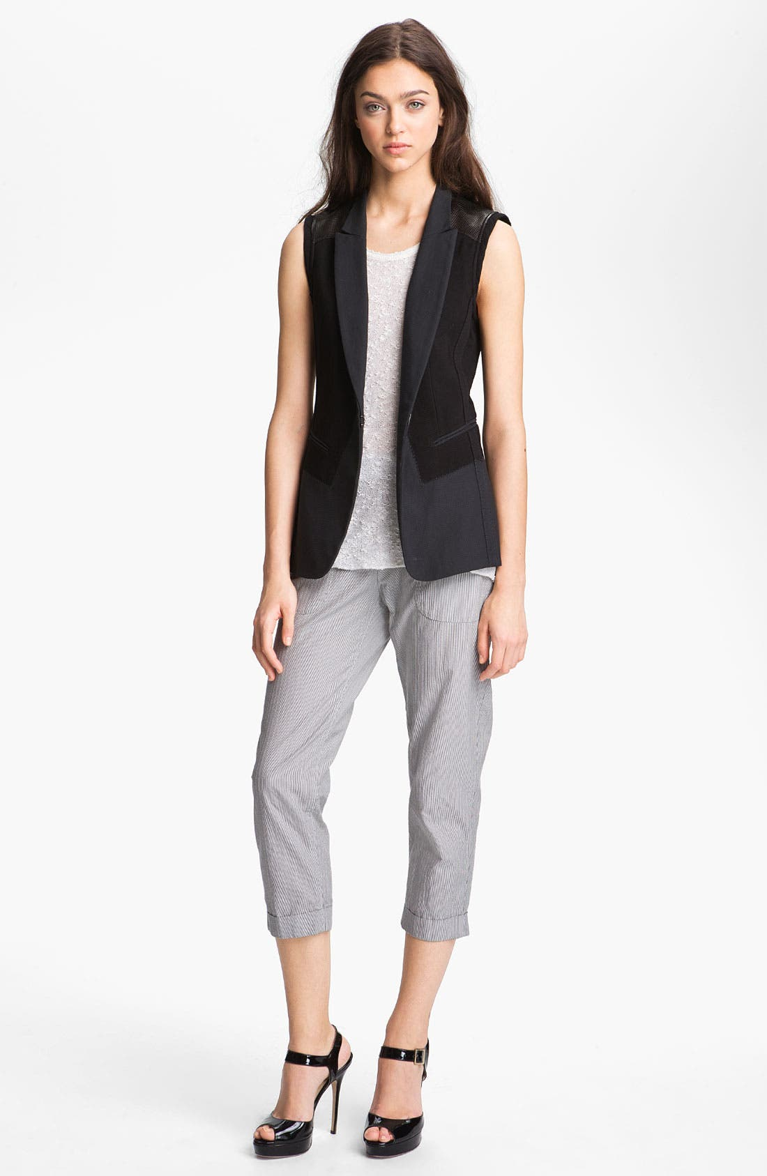 Alternate Image 1 Selected - rag & bone/JEAN Vest, Tank & Pants