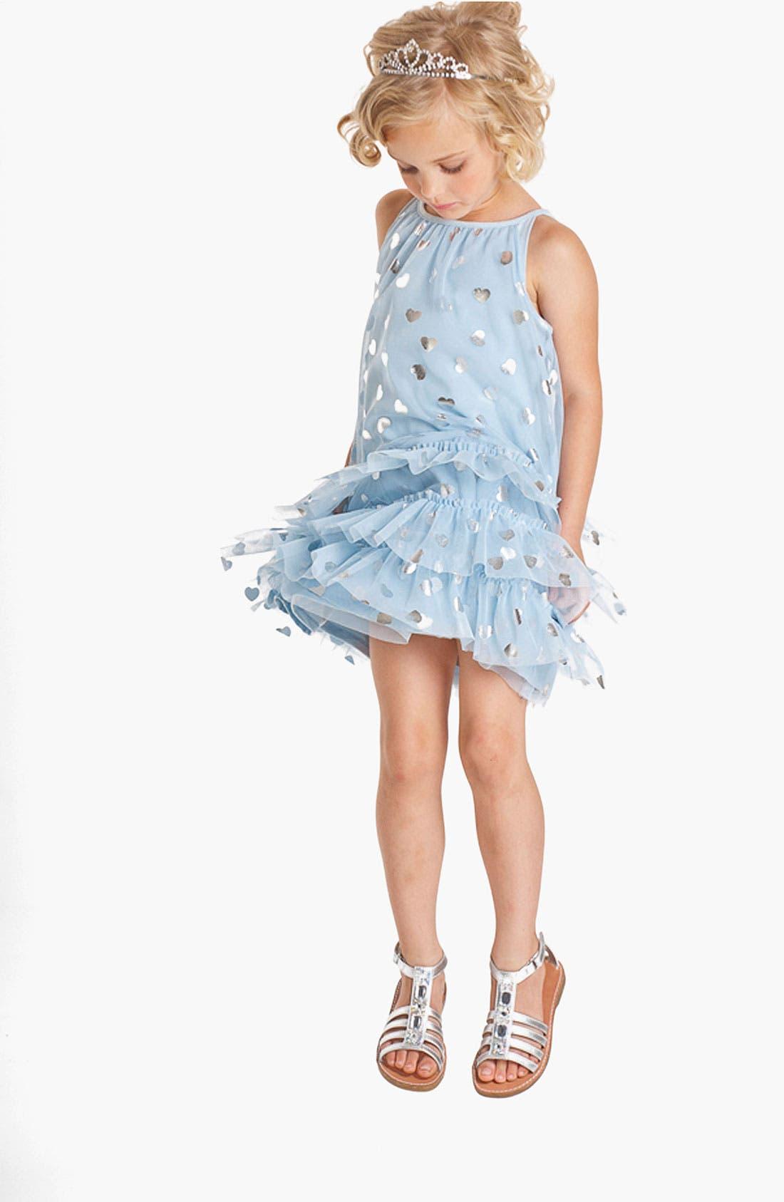 Alternate Image 2  - Biscotti 'Follow Your Heart' Dress (Little Girls)
