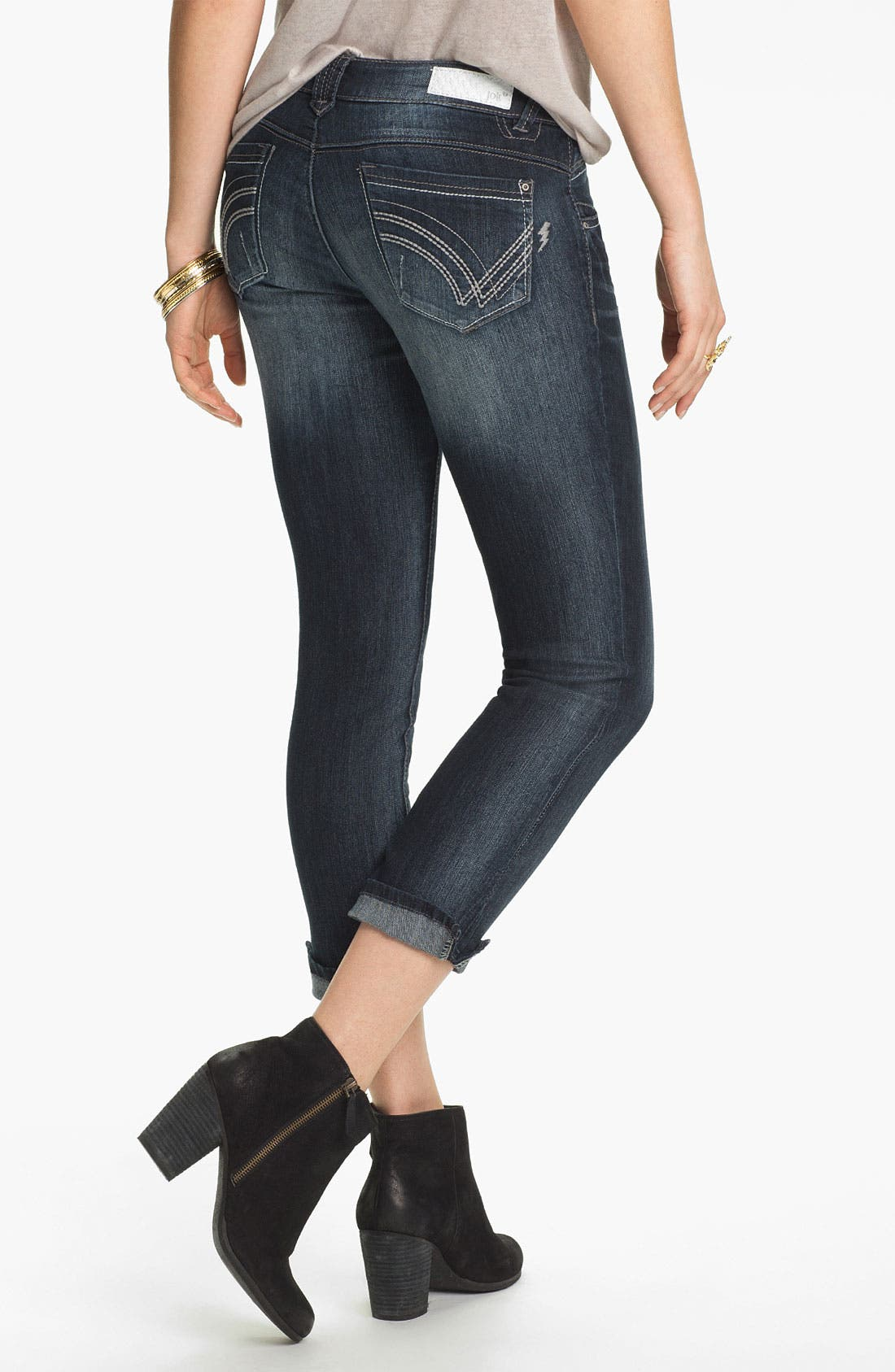 Alternate Image 1 Selected - Jolt Skinny Crop Jeans (Juniors)