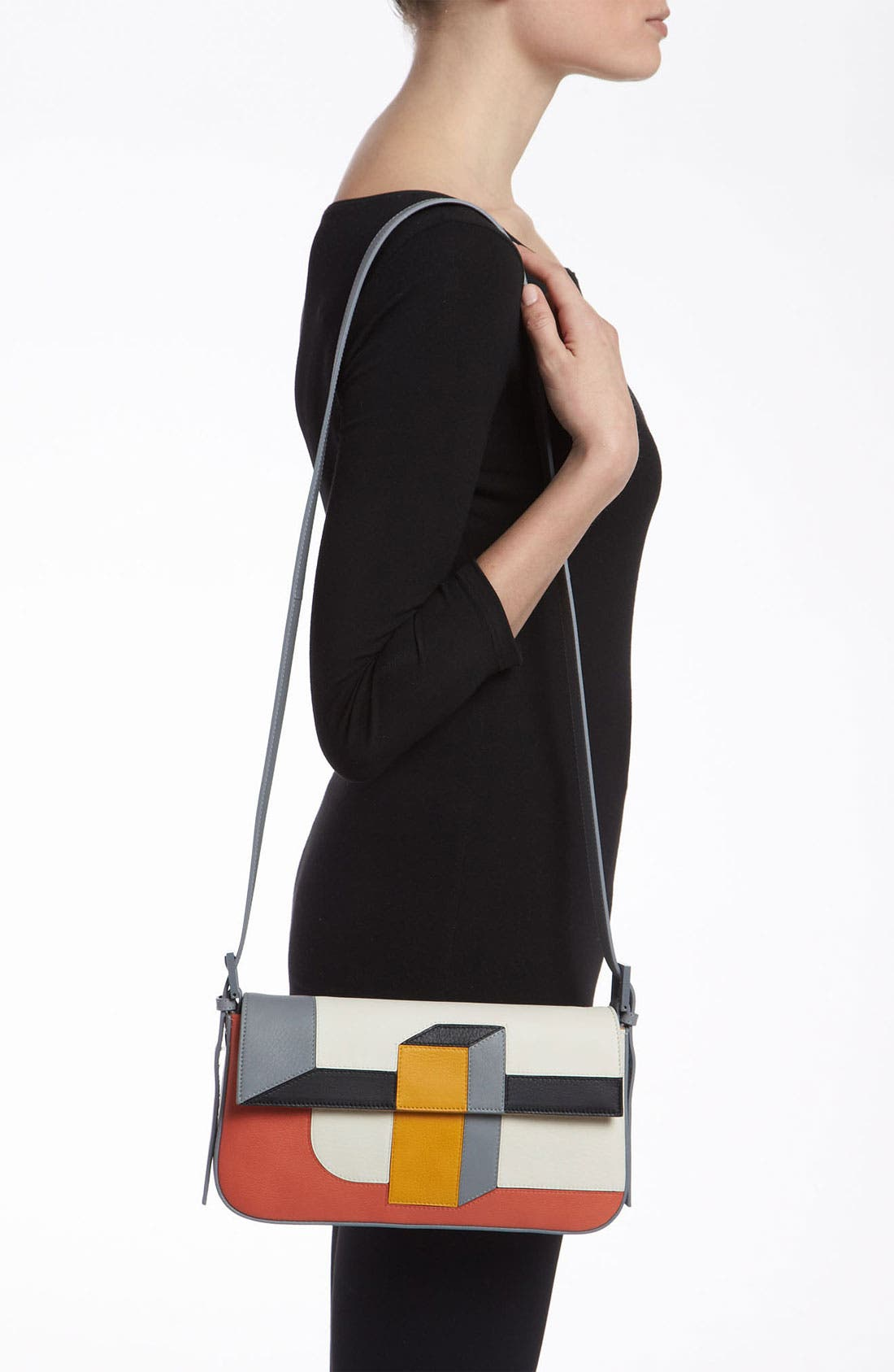 Alternate Image 2  - Fendi '3D' Leather Baguette