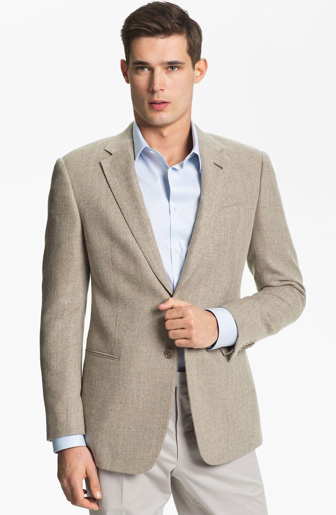 Alternate Image 1 Selected - Armani Collezioni 'Giorgio' Textured Wool Sportcoat
