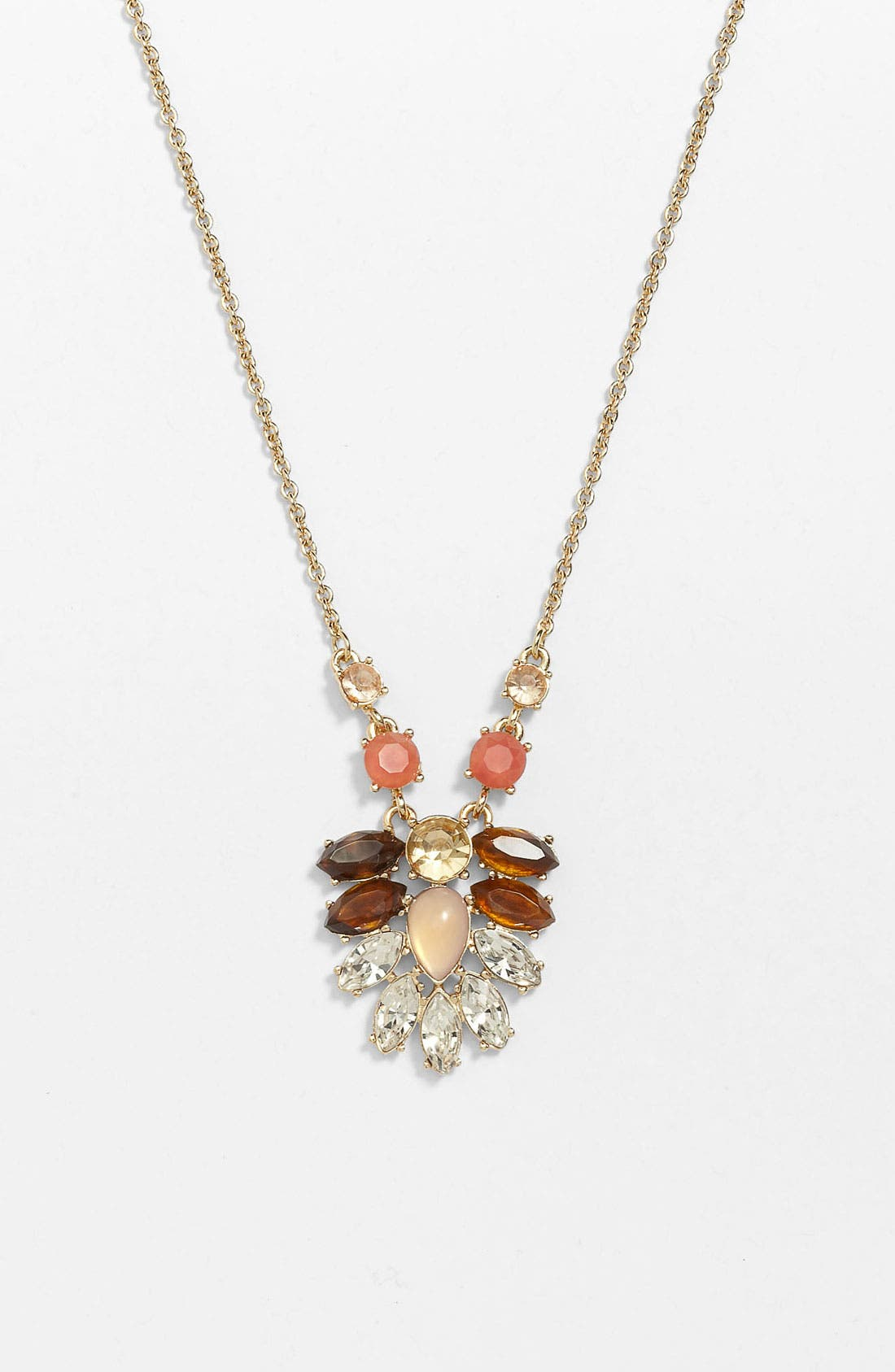 Main Image - Anne Klein Cluster Pendant Necklace