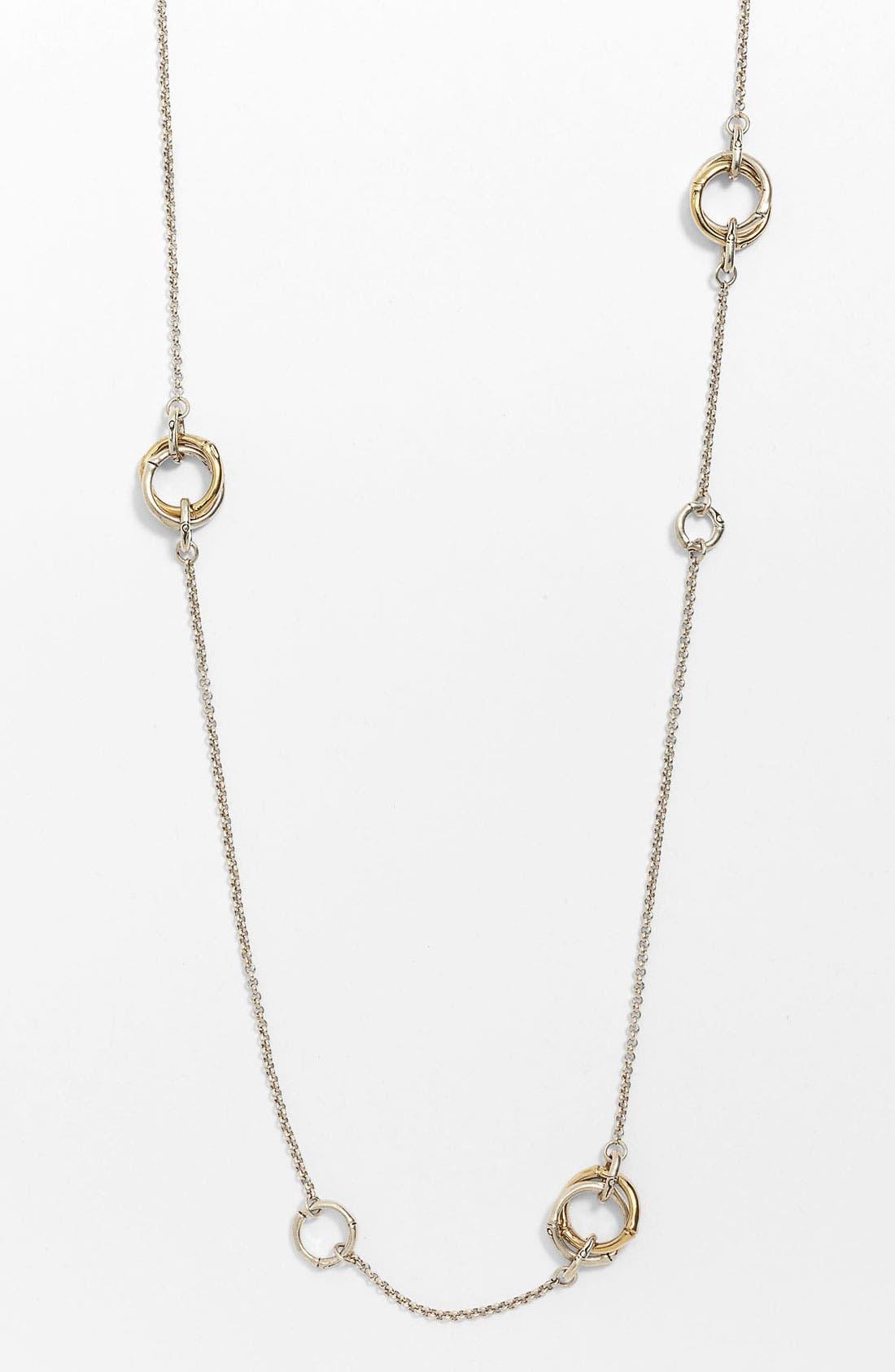 Alternate Image 1 Selected - John Hardy 'Bamboo' Long Station Necklace