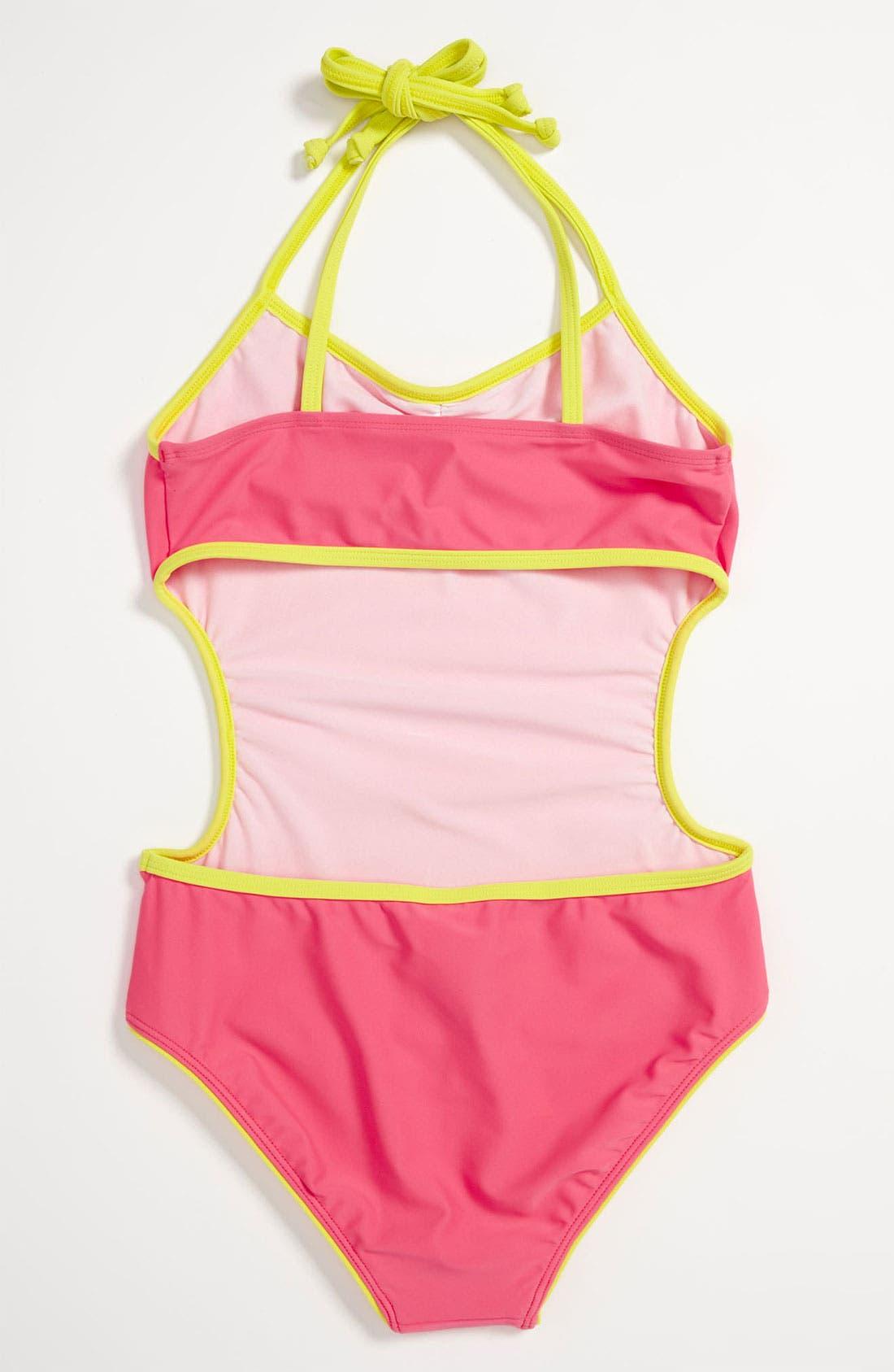 Alternate Image 2  - Roxy One Piece Swimsuit (Big Girls)