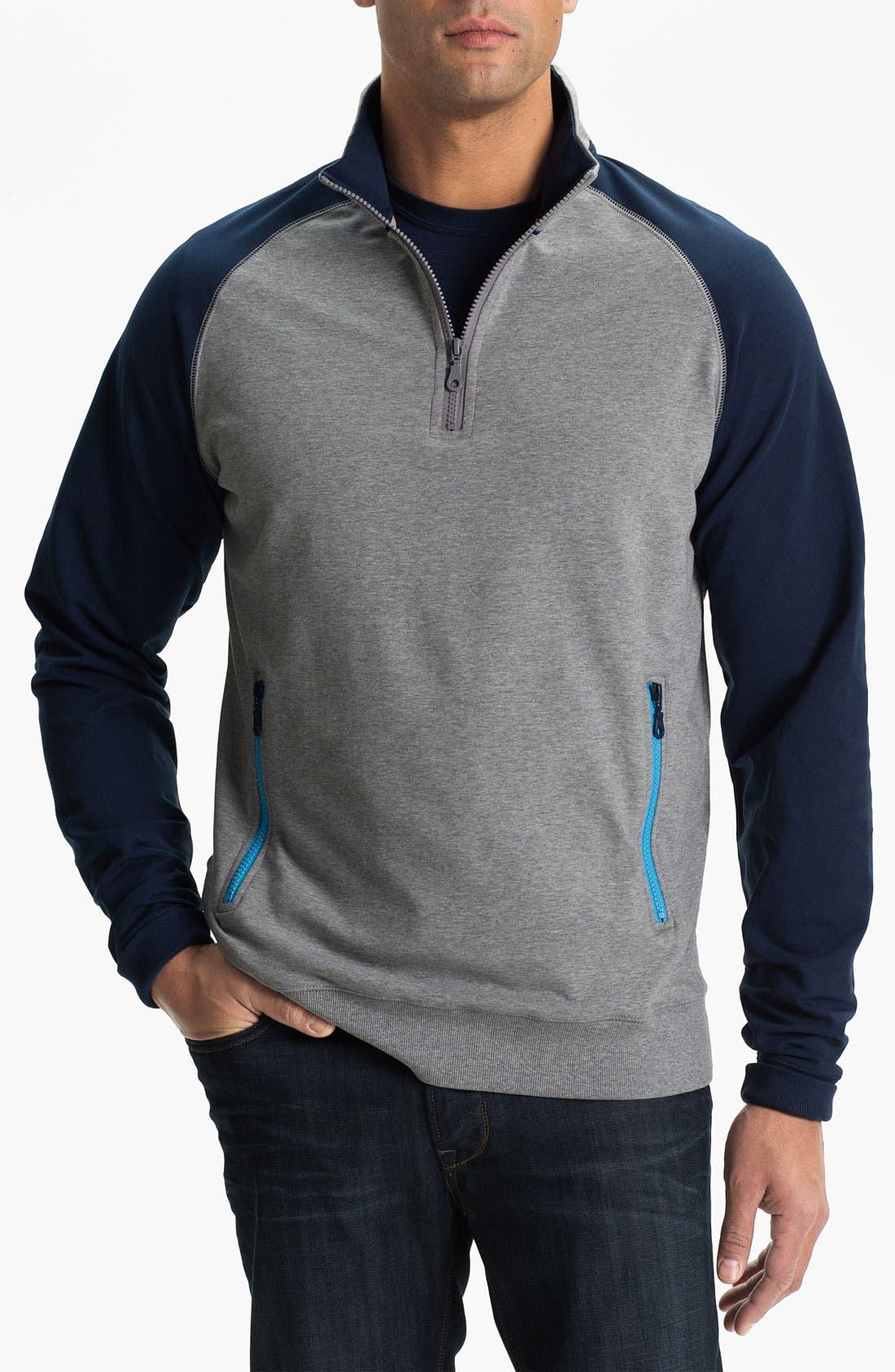 Main Image - Cutter & Buck 'Ballinger' Half Zip Pullover (Big & Tall)