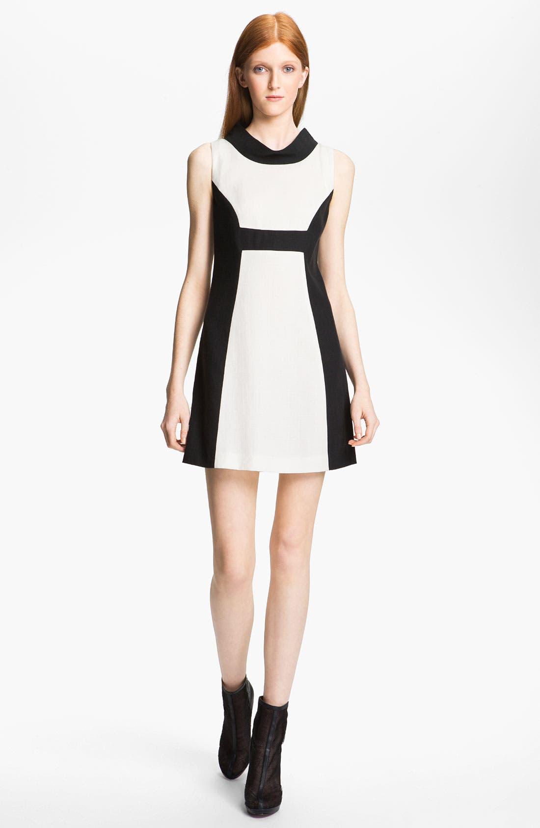 Main Image - Rachel Zoe 'Madison II' Contrast Panel Dress