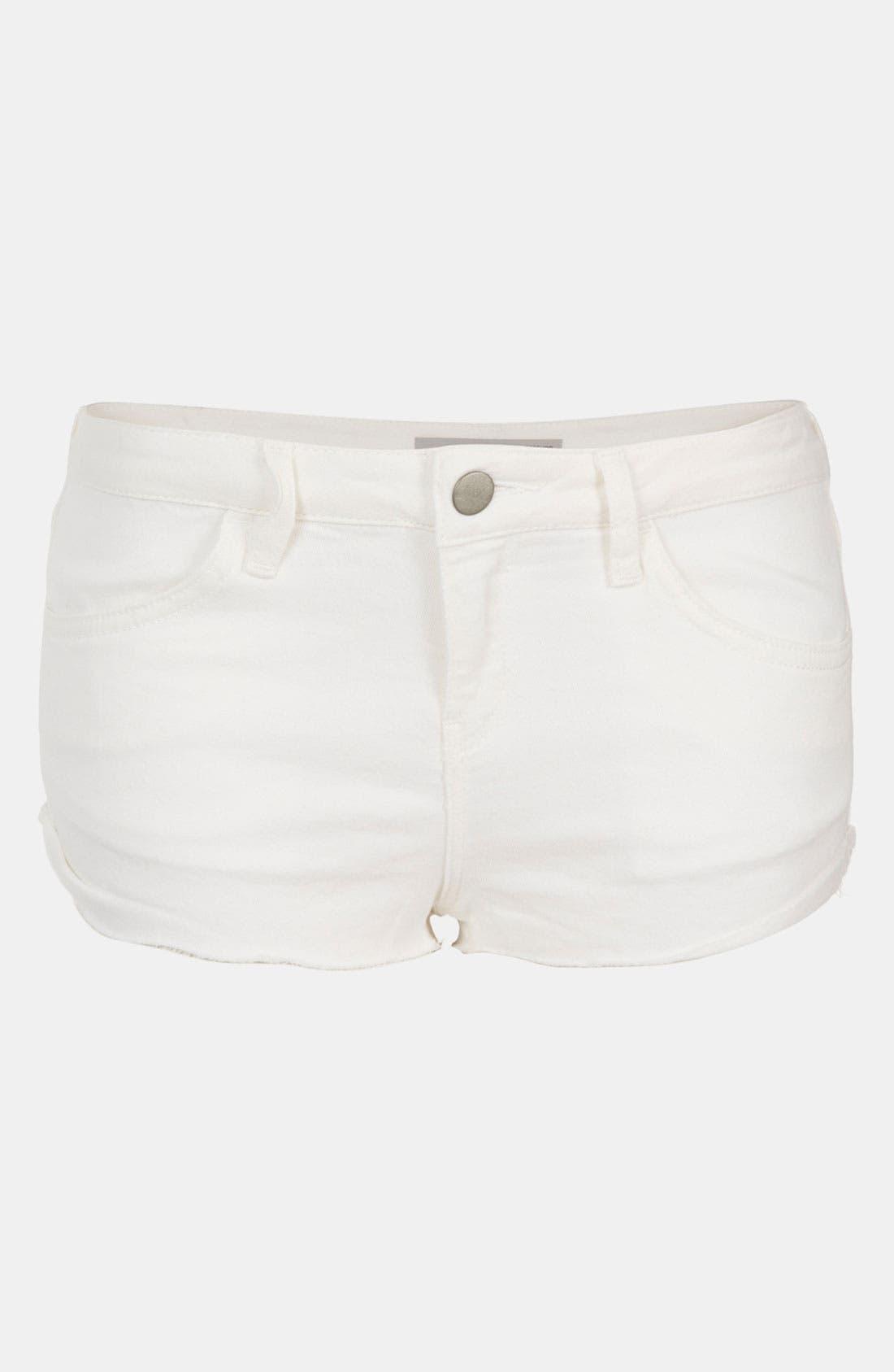 Main Image - Topshop Moto 'Mitzy' Cutoff Denim Shorts