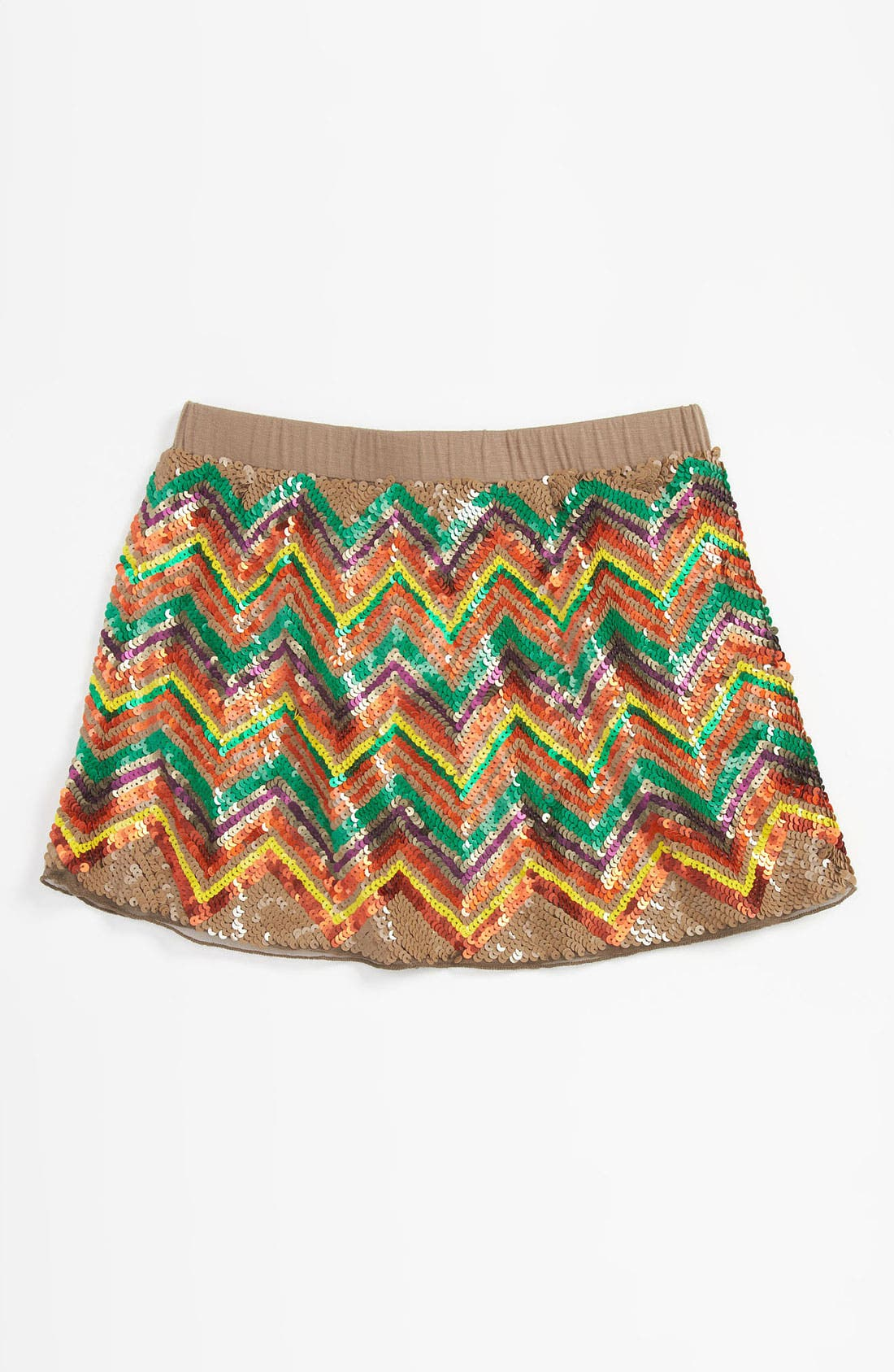 Main Image - Peek Sequin Skirt (Little Girls & Big Girls)