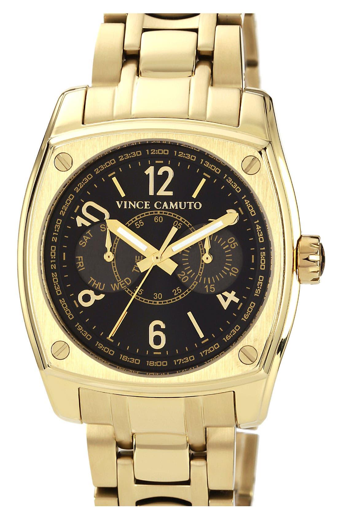 Main Image - Vince Camuto 'Lieutenant' Chronograph Bracelet Watch, 40mm x 48mm