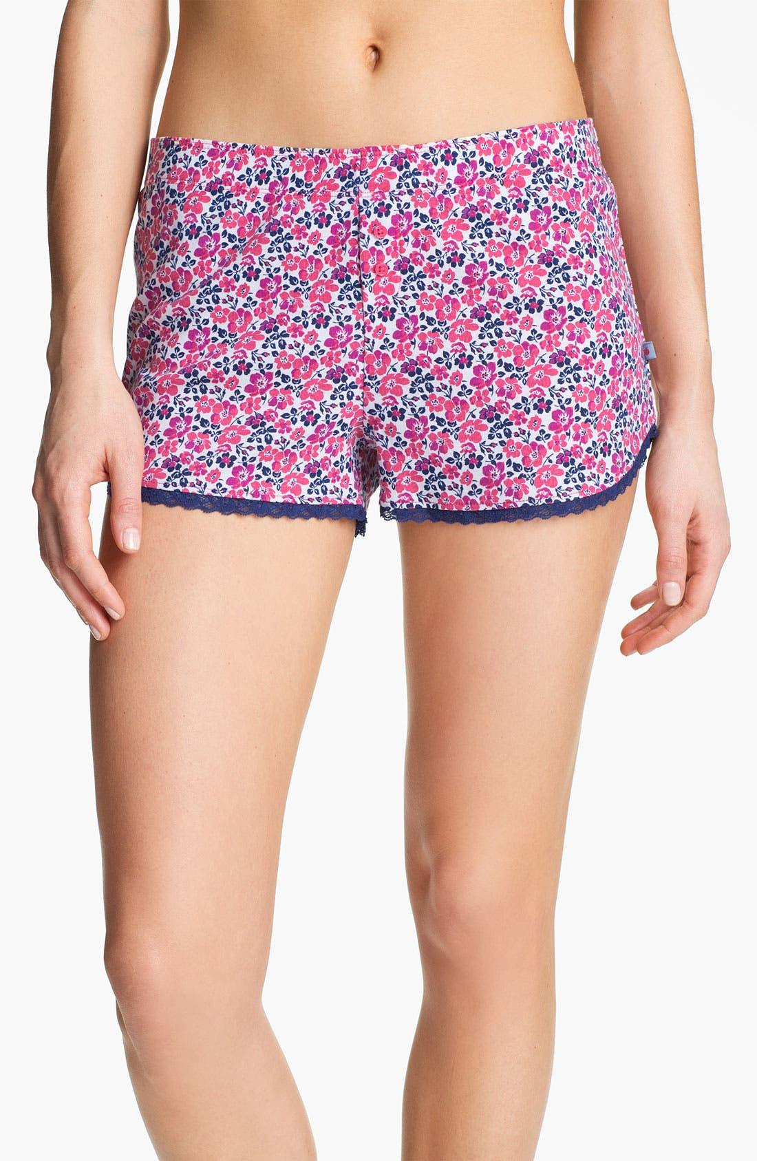 Alternate Image 1 Selected - Jane & Bleecker New York Rib Knit Boxer Shorts