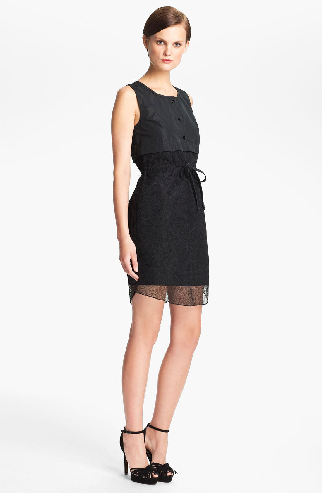 Alternate Image 1 Selected - Carven Lace Overlay Dress