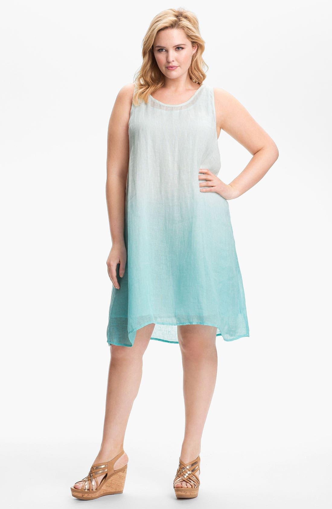 Main Image - Eileen Fisher Linen A-Line Dress (Plus)