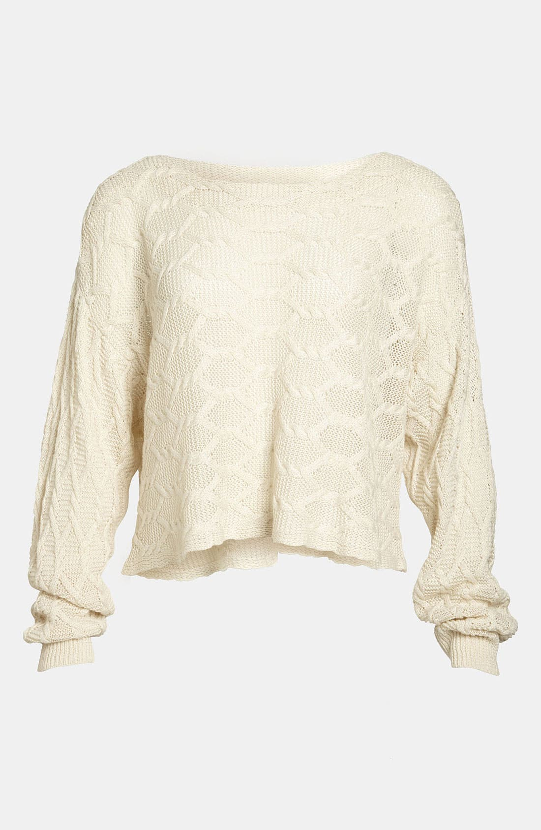 Main Image - Tildon Off Shoulder Cabled Pullover Sweater