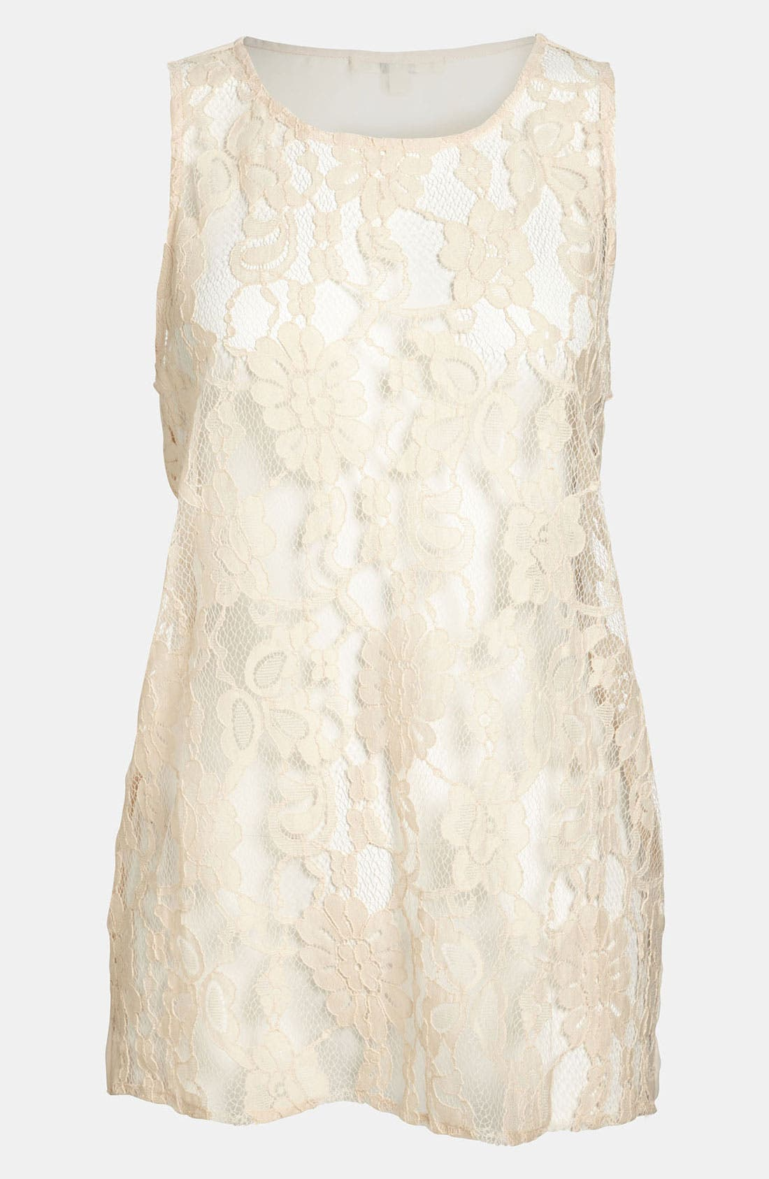 Main Image - BB Dakota Lace Front High/Low Top