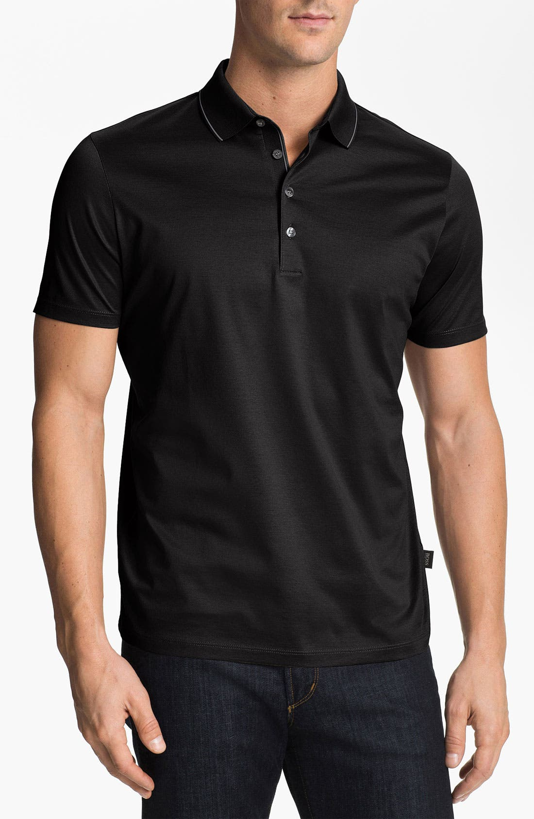 Alternate Image 1 Selected - BOSS Black 'Fino 22' Trim Fit Polo