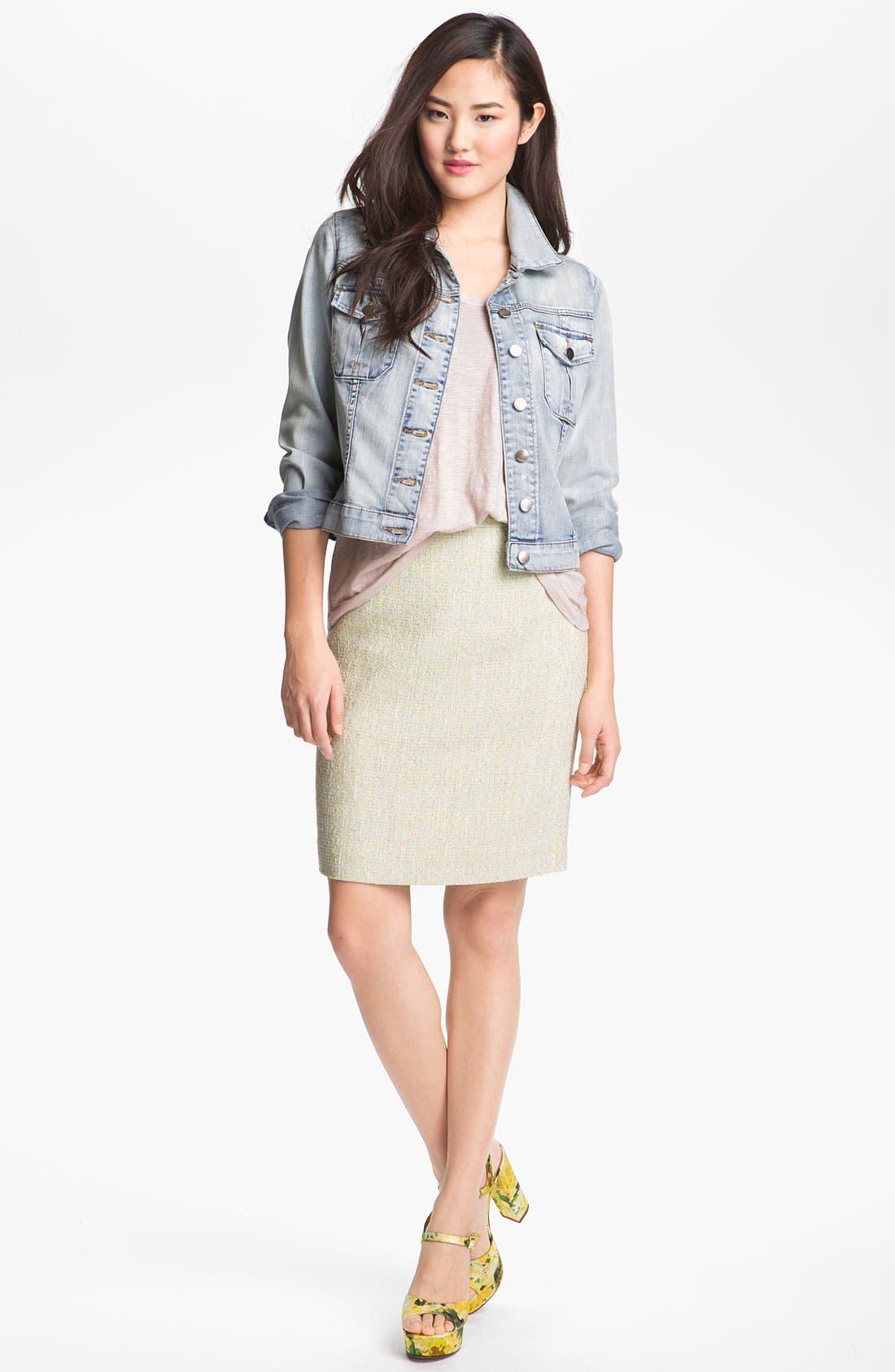 Alternate Image 1 Selected - Halogen® Tweed Pencil Skirt
