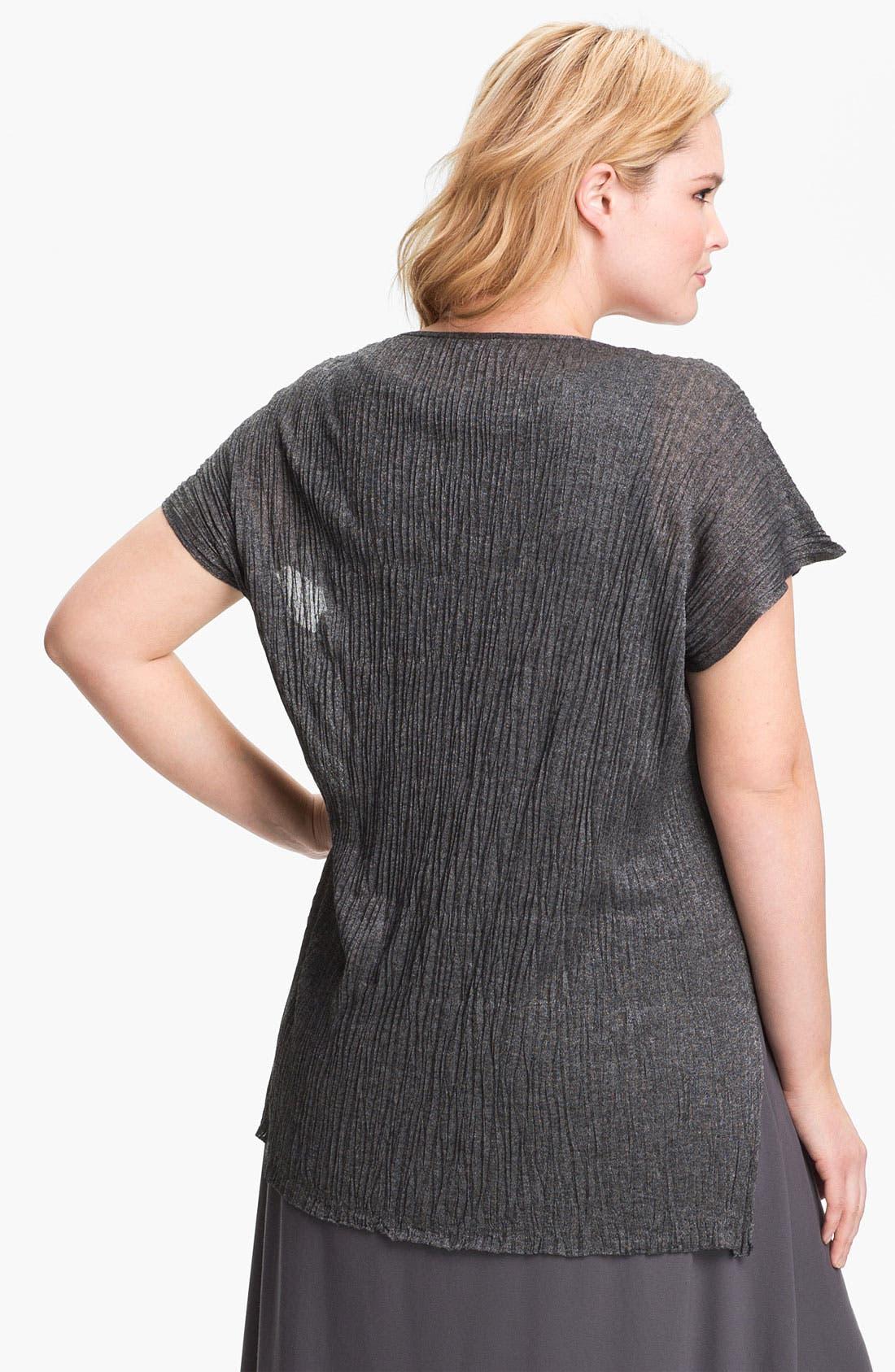 Alternate Image 2  - Eileen Fisher Crinkled Tunic (Plus Size)