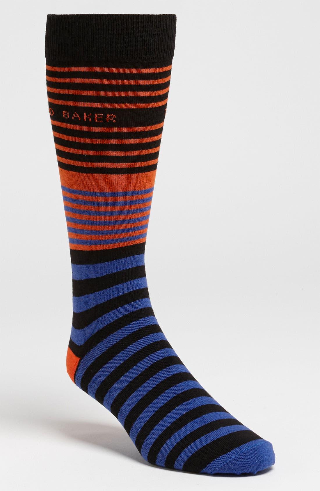 Alternate Image 1 Selected - Ted Baker London Stripe Socks