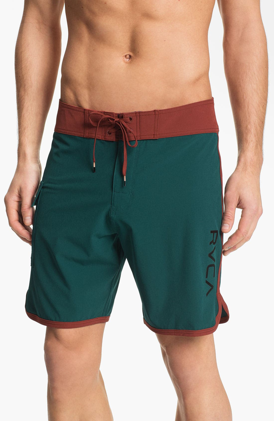 Main Image - RVCA 'Eastern' Scalloped Hem Board Shorts