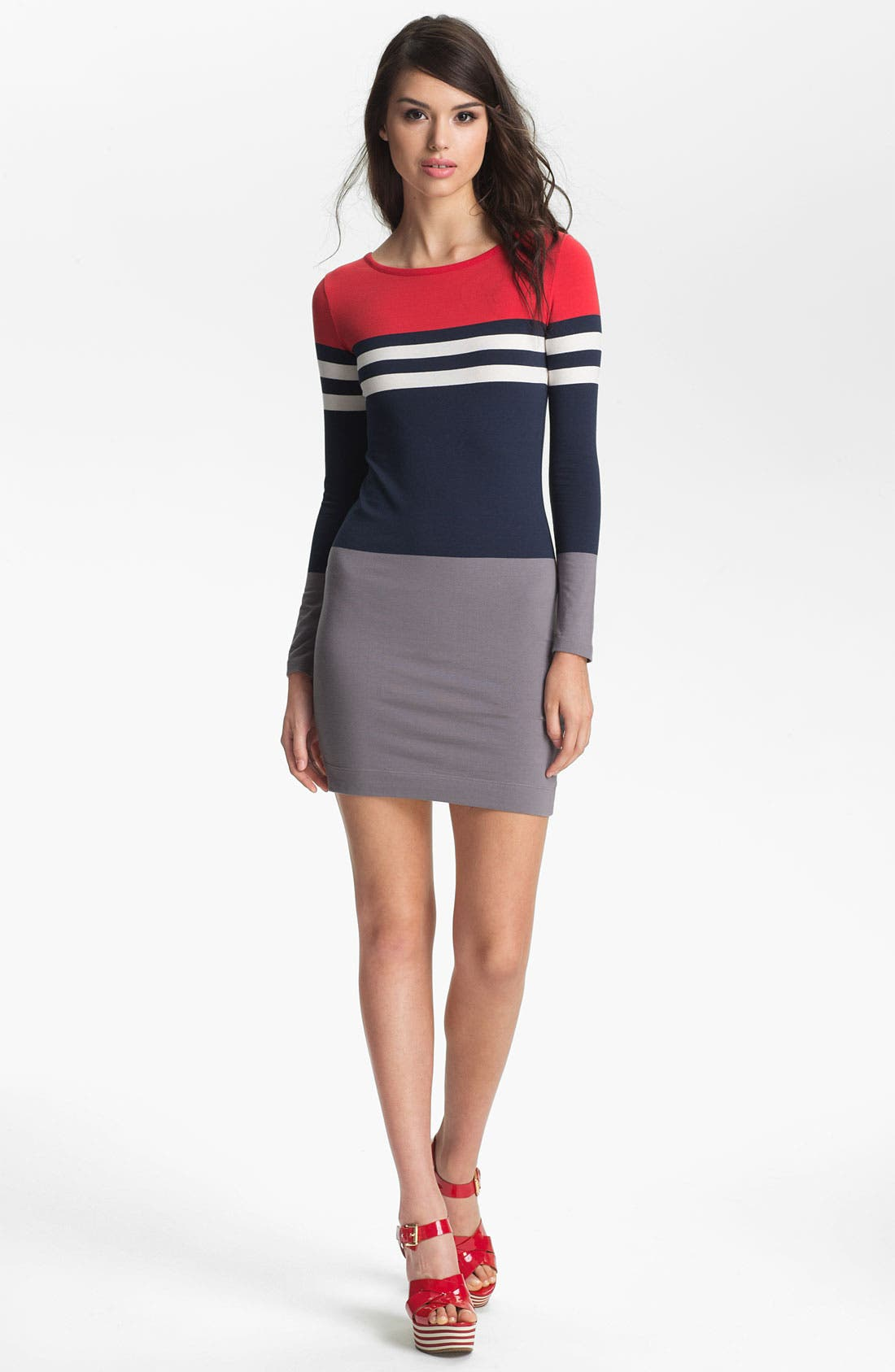 Main Image - French Connection 'Suzanne' Stripe Knit Dress