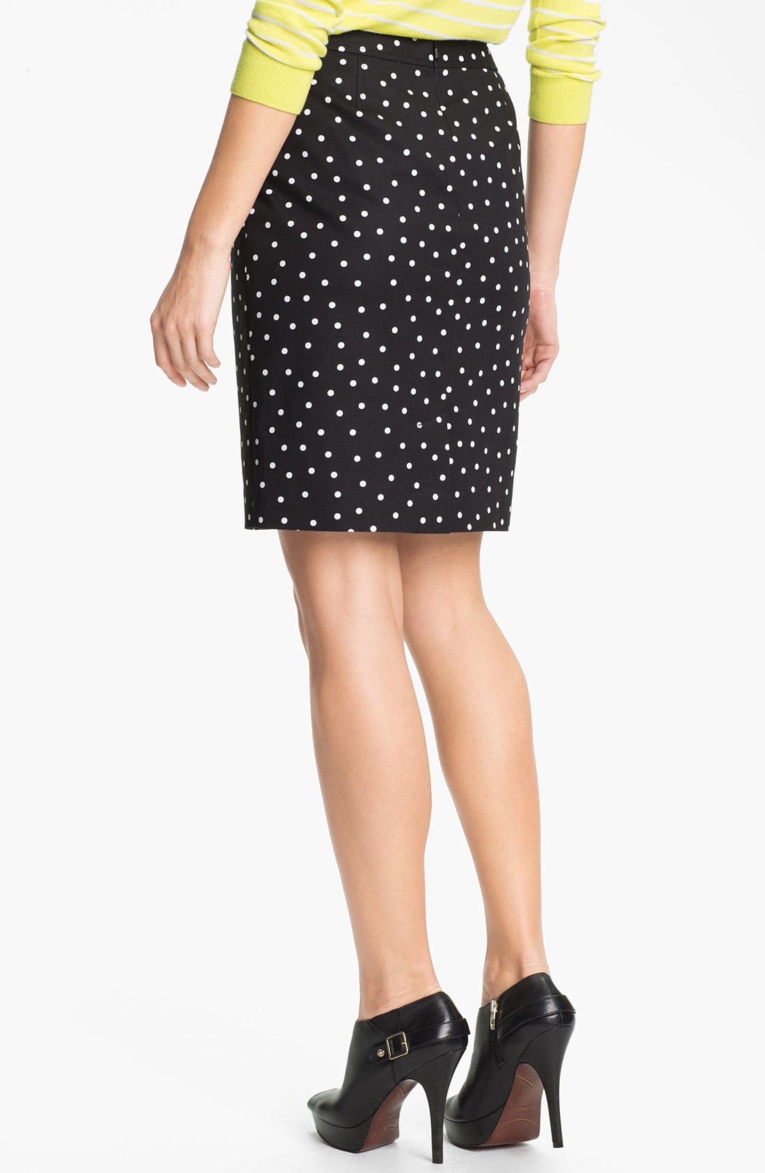 Alternate Image 2  - Halogen® Print Stretch Cotton Blend Skirt