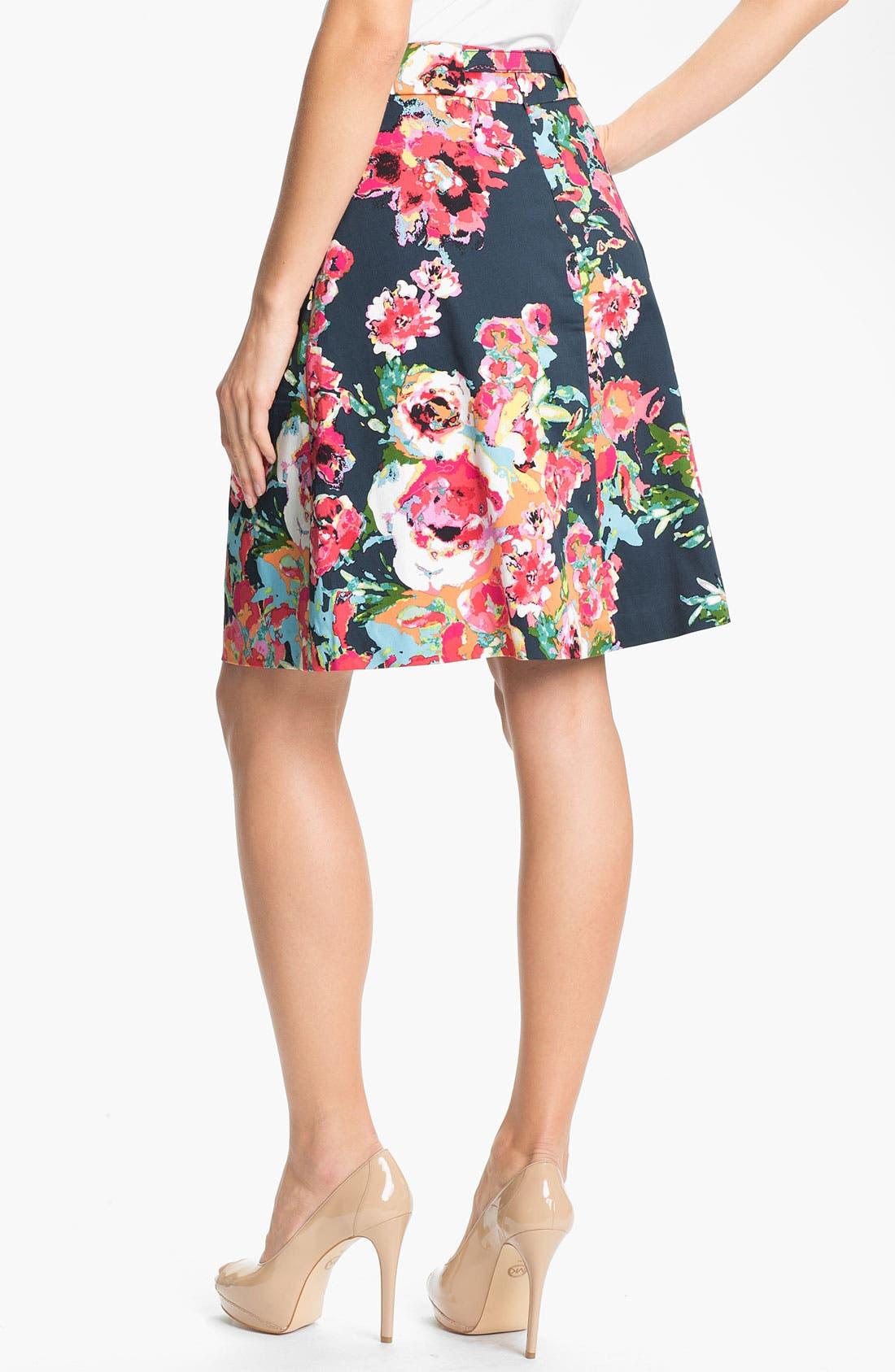 Alternate Image 2  - Adrianna Papell Belted Print Skirt
