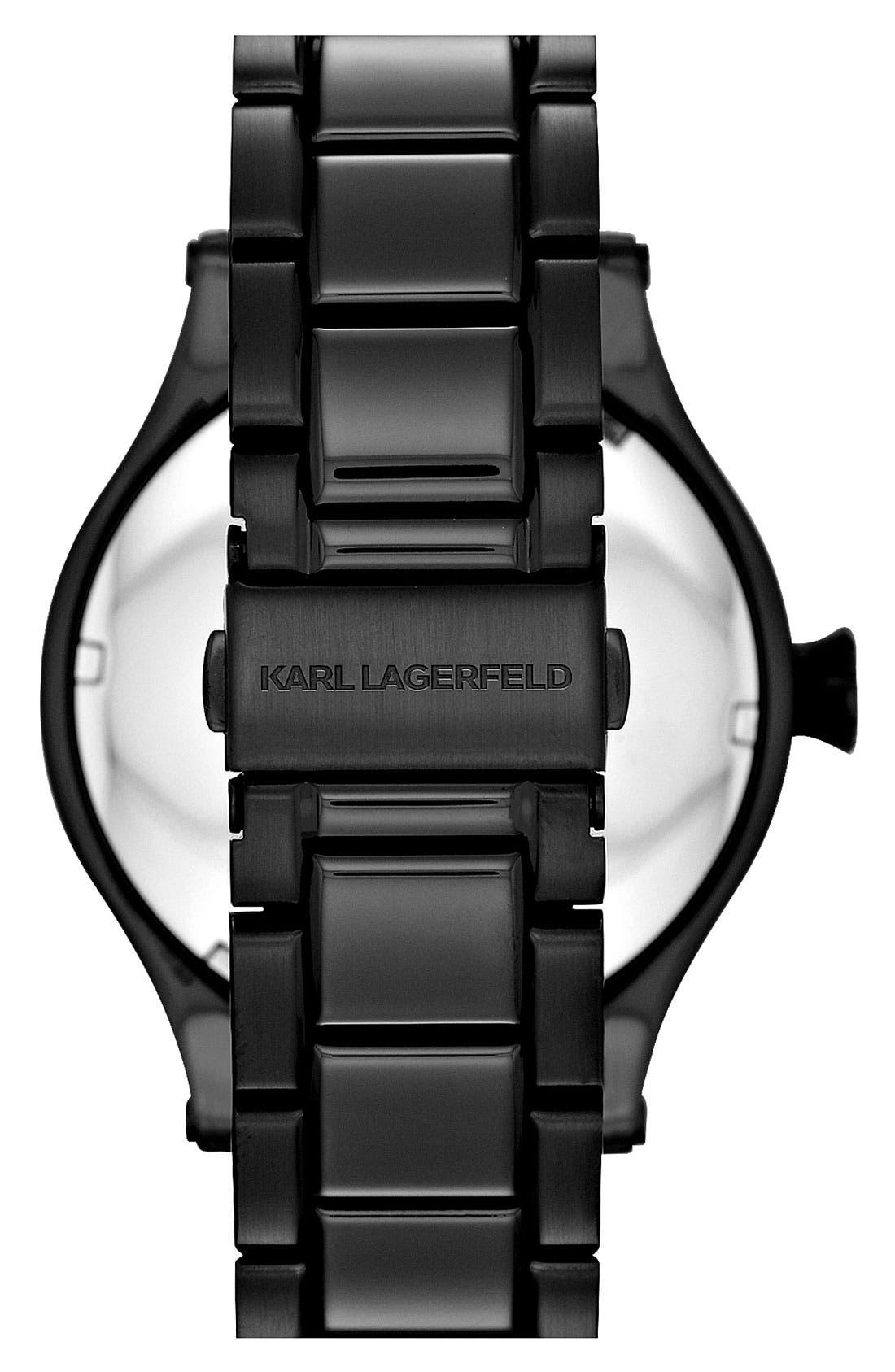 Alternate Image 2  - KARL LAGERFELD Chain Detail Bracelet Watch, 44mm