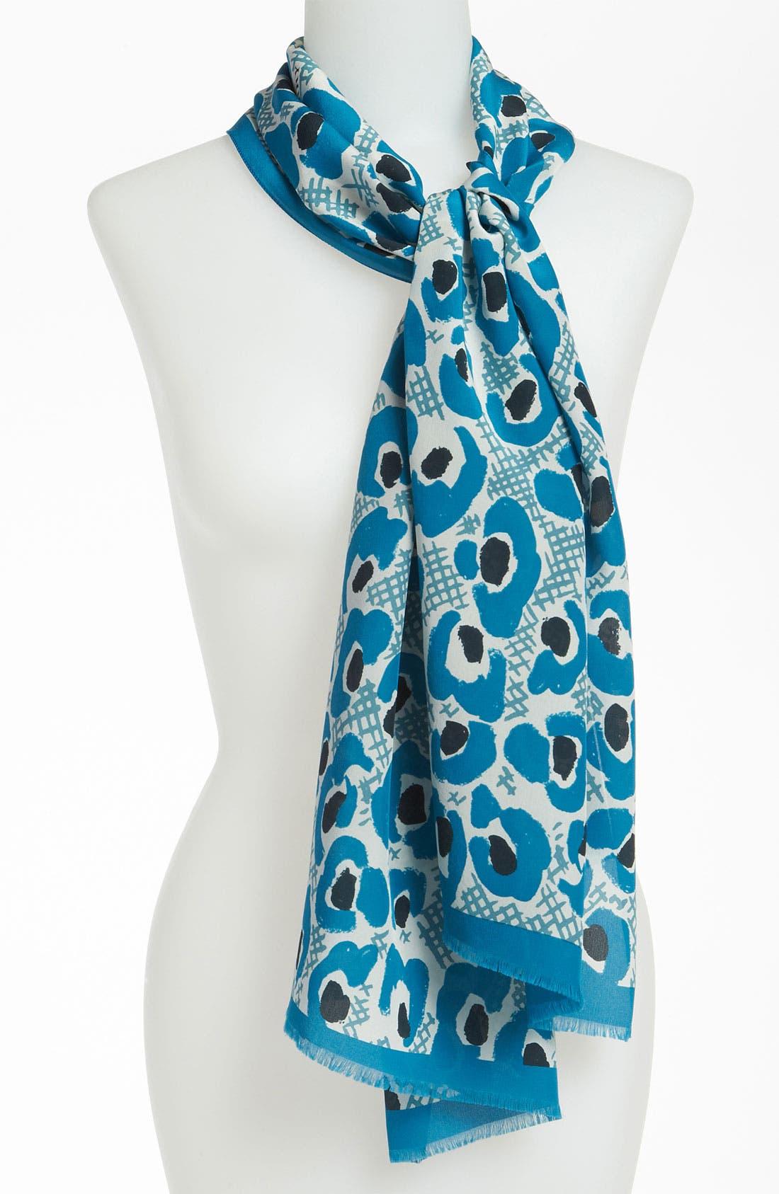 Main Image - Burberry Print Silk Scarf