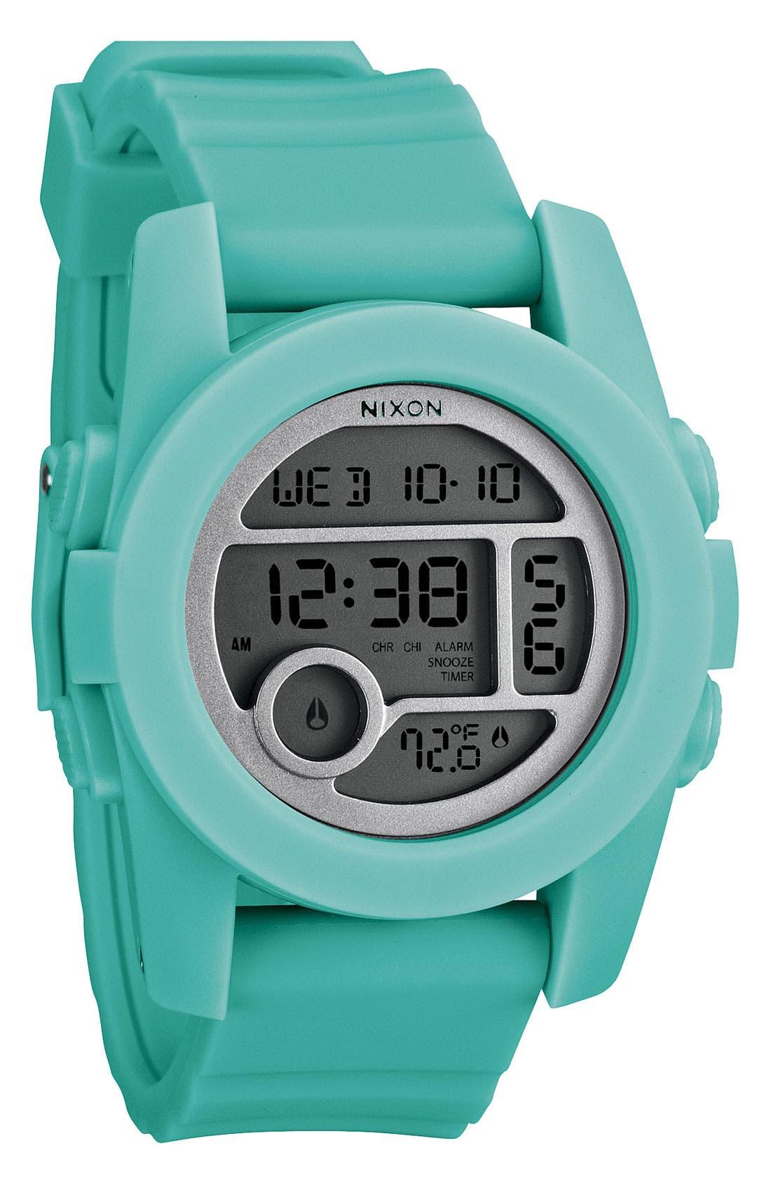 'The Unit 40' Round Digital Watch, 40mm,                         Main,                         color, Light Blue