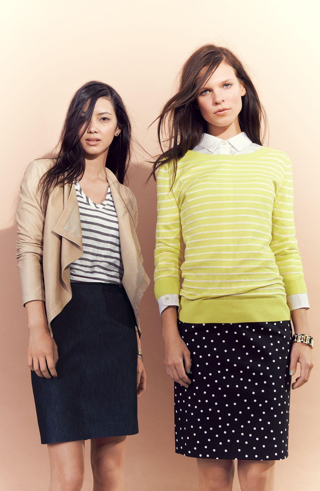 Alternate Image 4  - Halogen® Print Stretch Cotton Blend Skirt