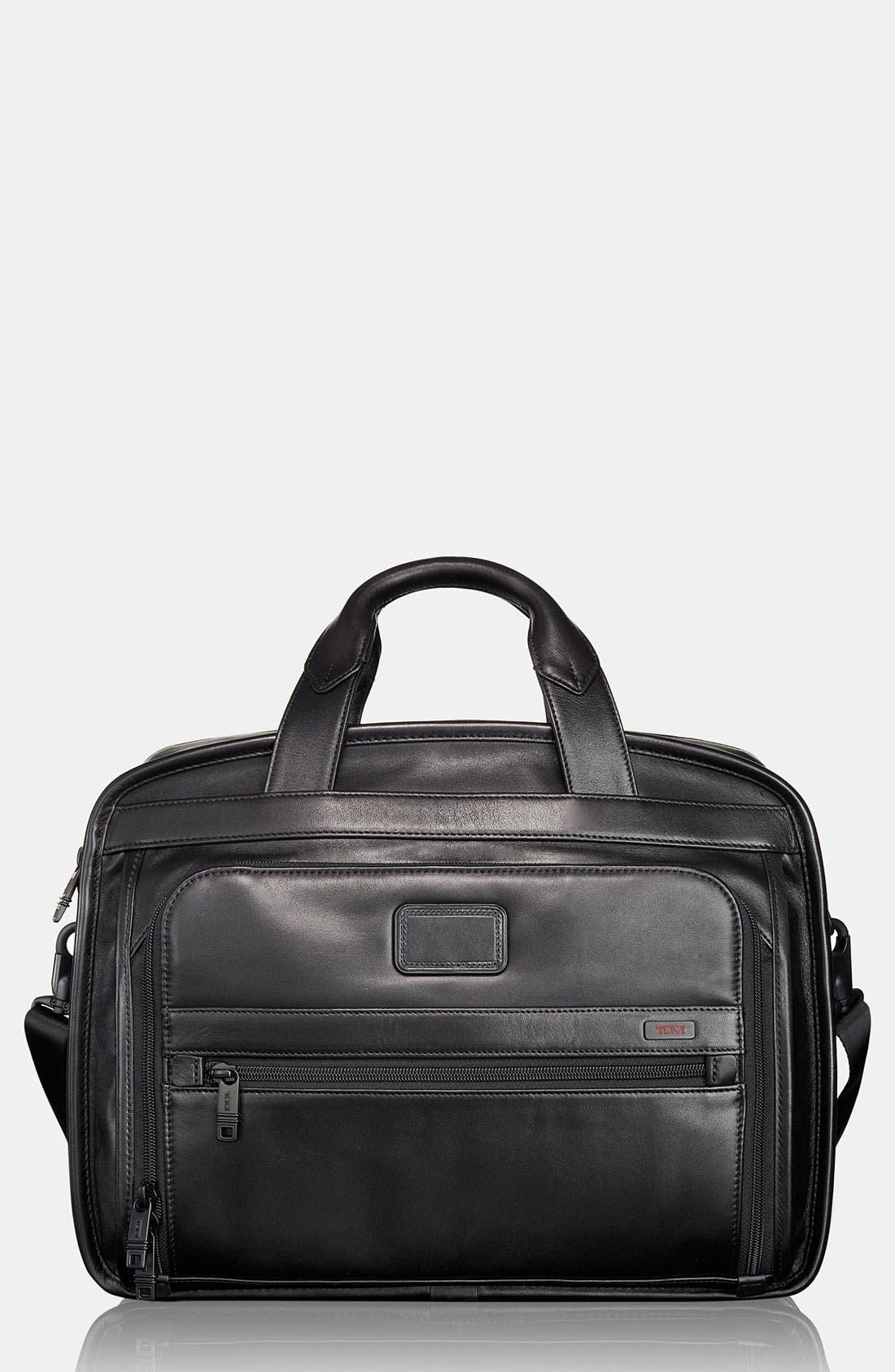 Main Image - Tumi 'Alpha' Leather Organizer Briefcase