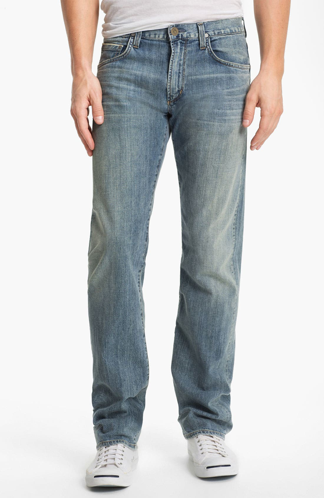 Alternate Image 1 Selected - Citizens of Humanity 'Sid Selvage' Straight Leg Jeans (Lukas Wash)