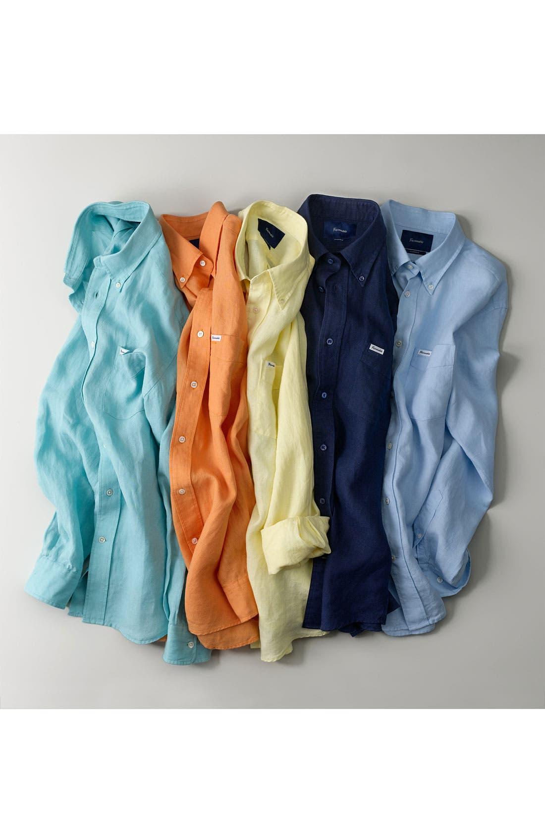 Alternate Image 2  - Façonnable Classique Fit Linen Sport Shirt