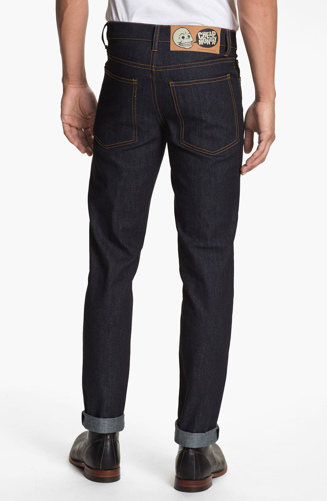 Alternate Image 1 Selected - Cheap Monday Slim Straight Leg Jeans (Original Unwashed)