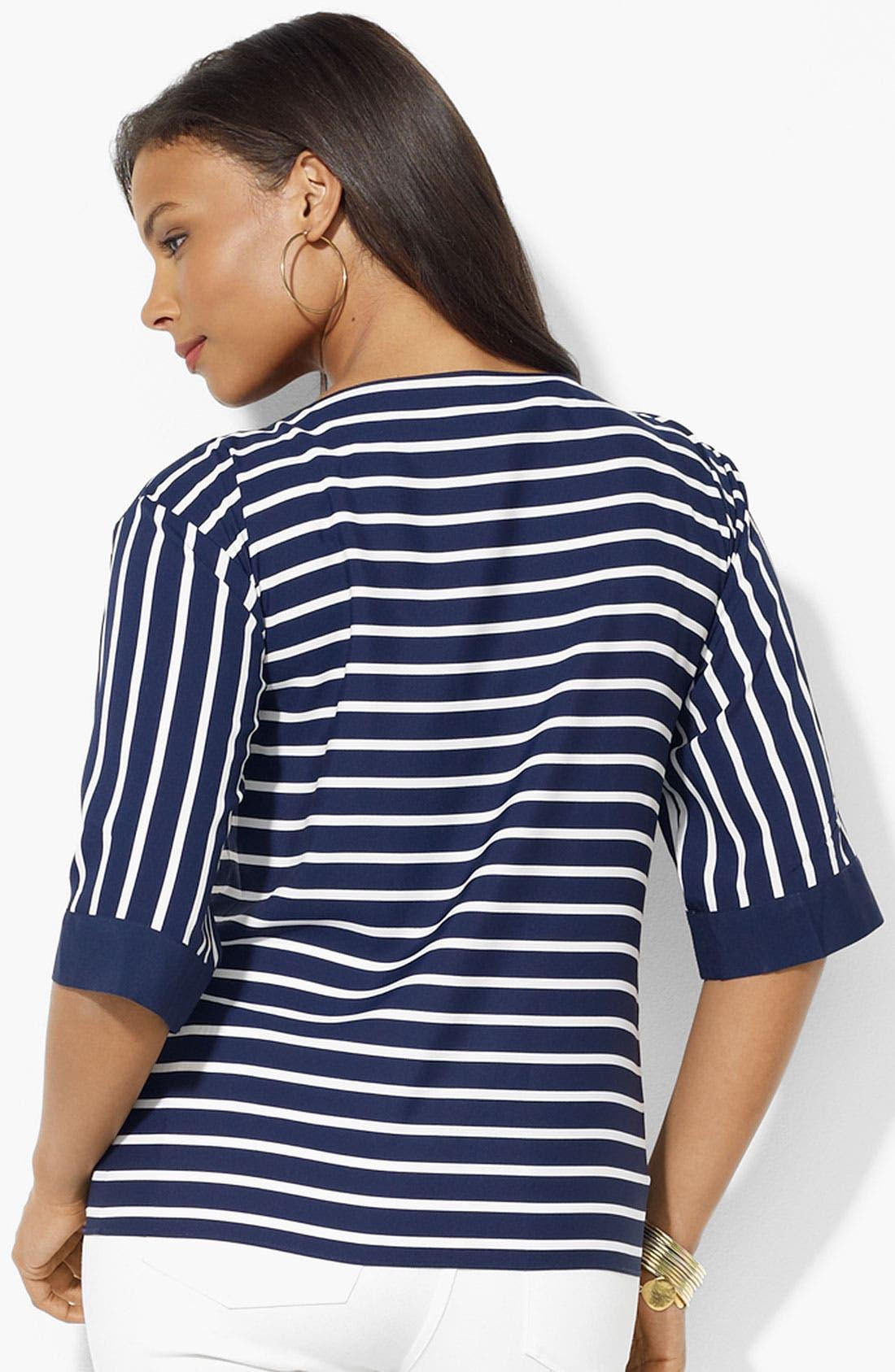 Alternate Image 2  - Lauren Ralph Lauren Stripe Top (Plus)