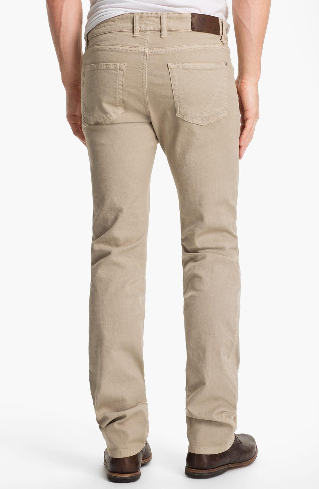 Alternate Image 2  - Z Zegna Straight Leg Jeans (Light Beige)