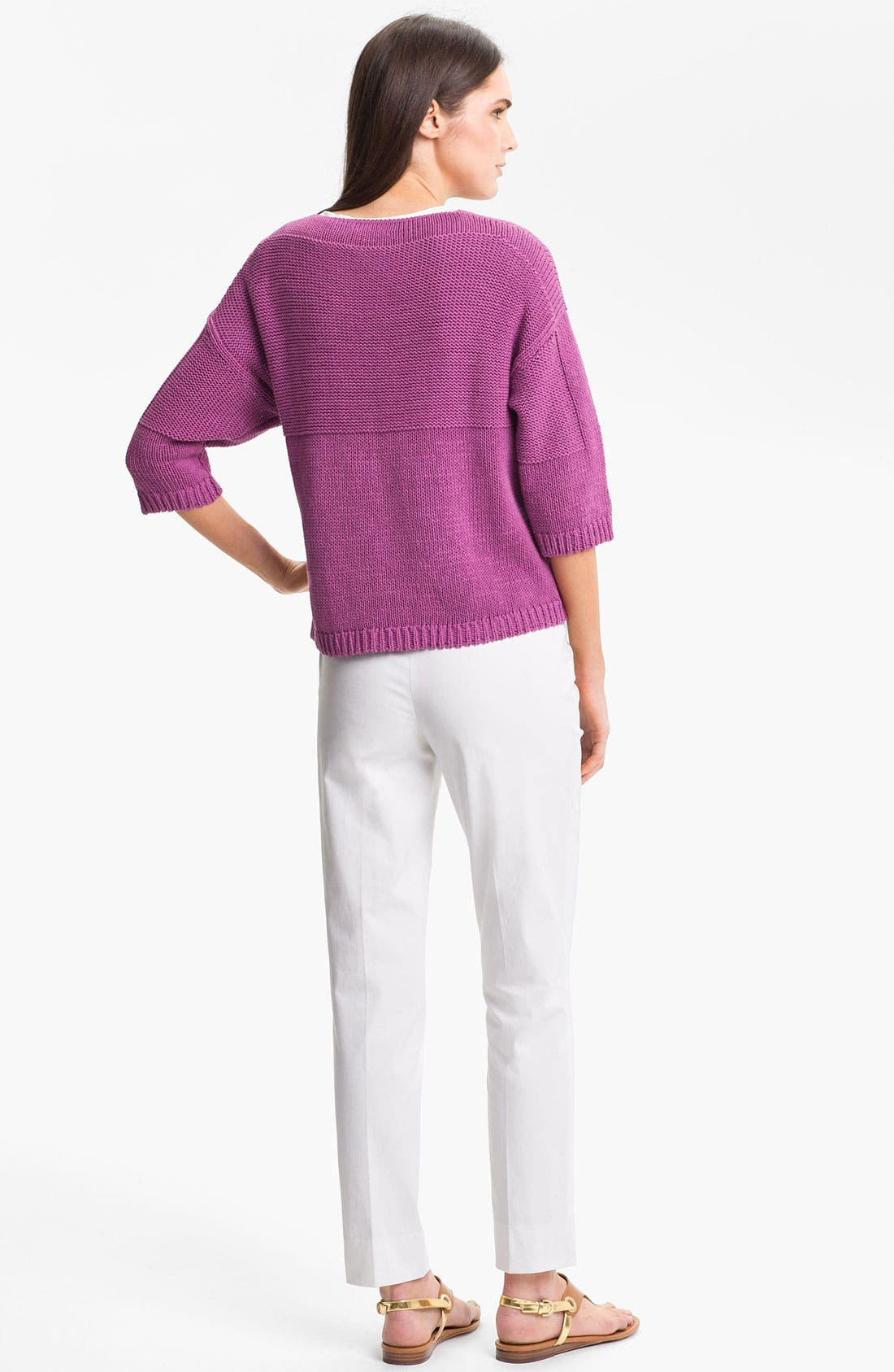 Alternate Image 5  - Lafayette 148 New York 'Essential' Cotton Blend Sweater