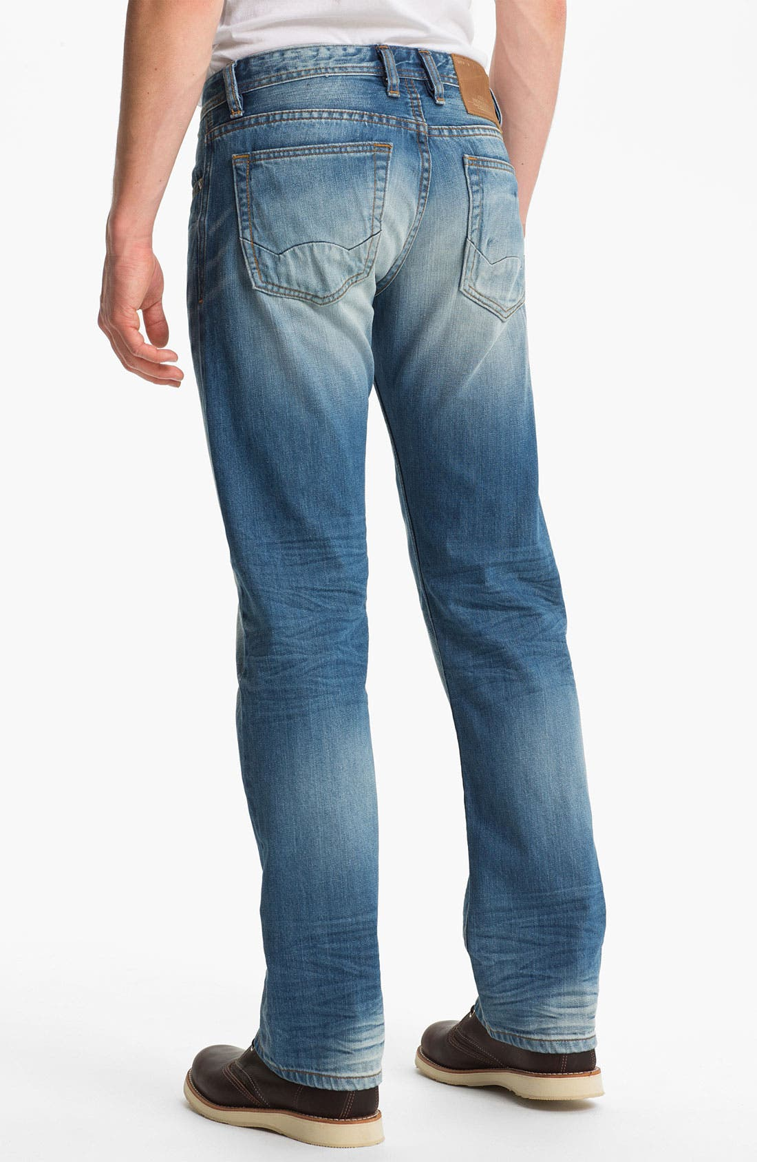 Alternate Image 1 Selected - Cult of Individuality 'Rebel' Straight Leg Selvedge Jeans (Crafted)
