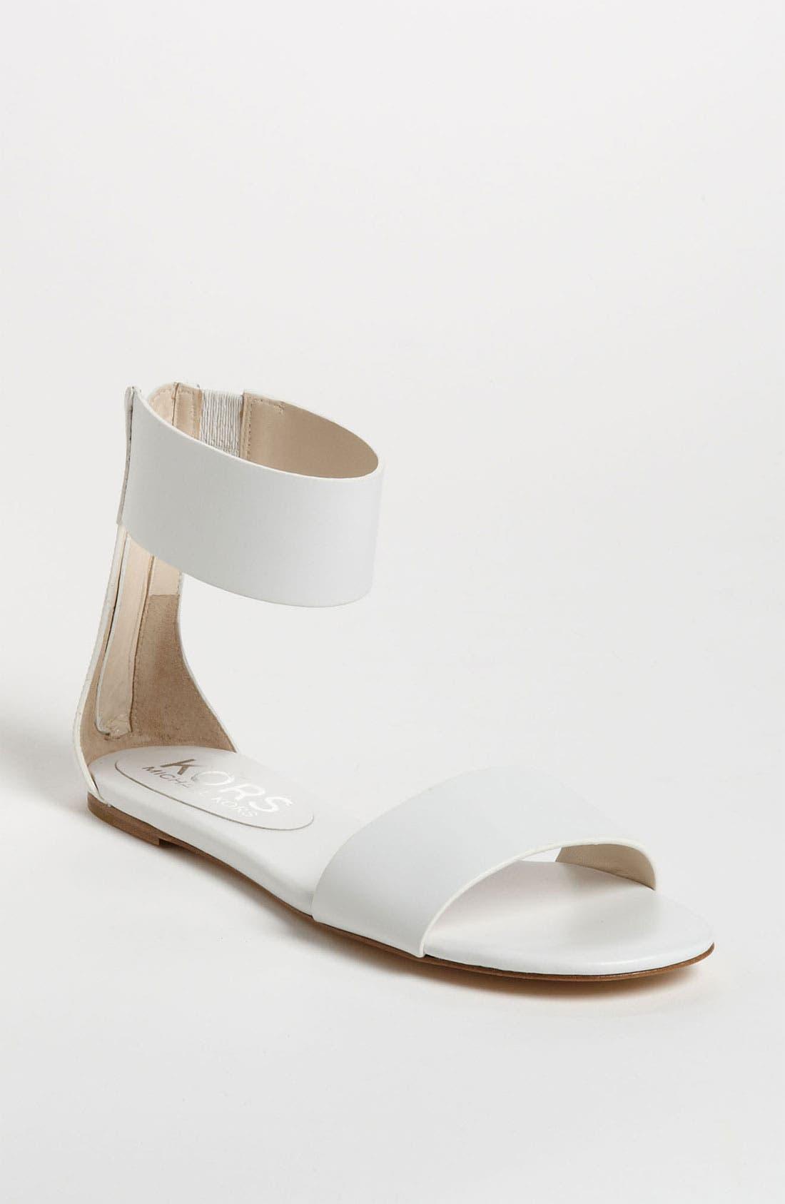 'Ava' Sandal,                         Main,                         color, White