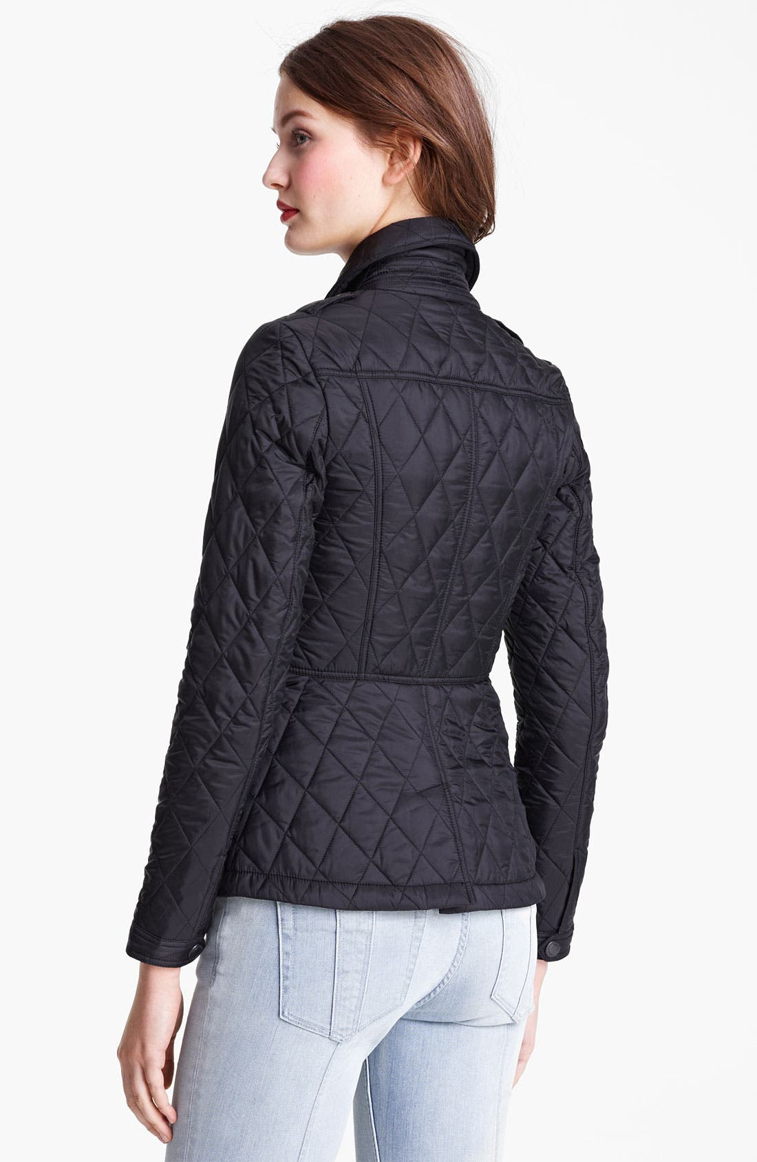 'Ivymoore' Quilted Zip Jacket,                             Alternate thumbnail 2, color,                             Black