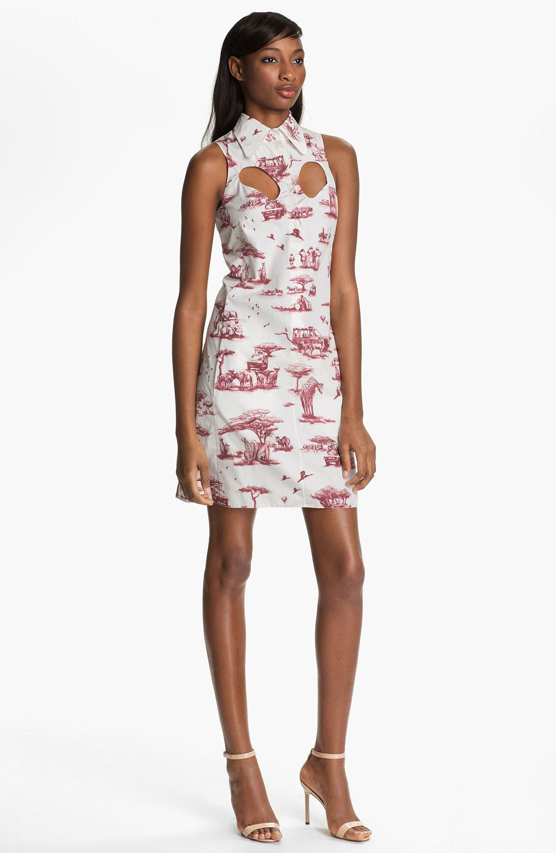 Alternate Image 1 Selected - Carven Safari Print Poplin Dress