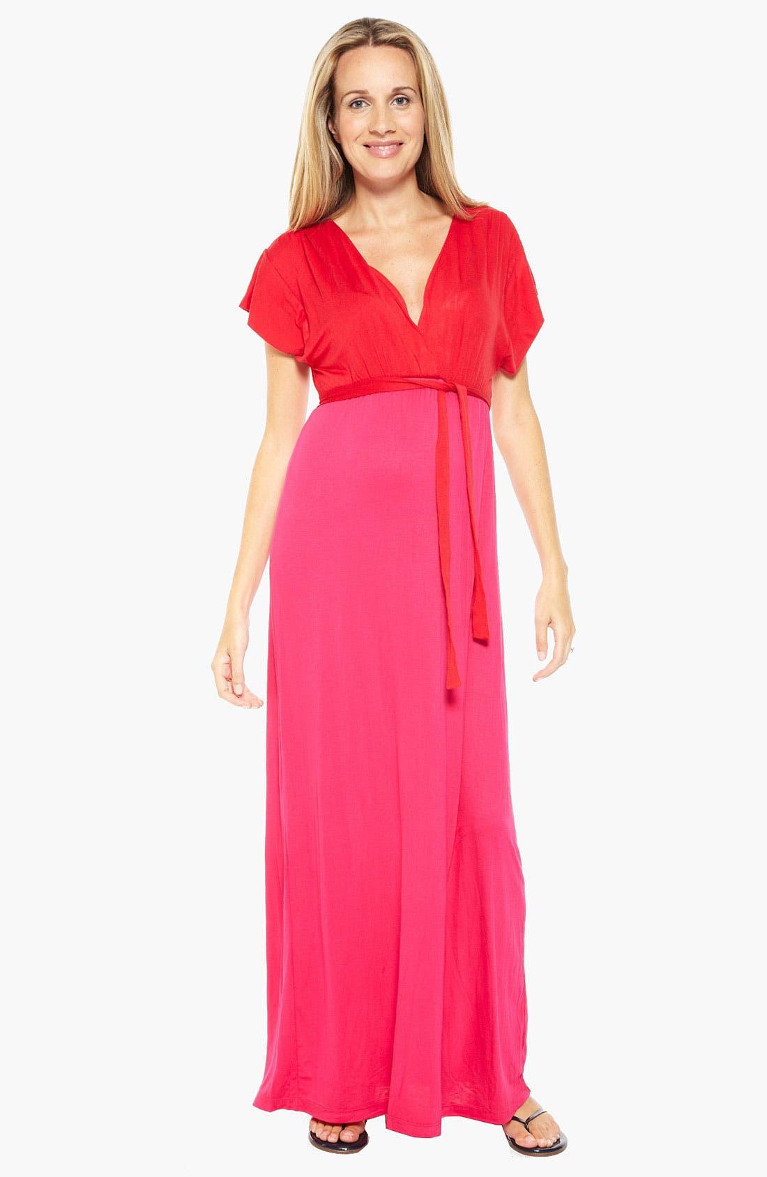 Alternate Image 1 Selected - Nom Maternity 'Skyler' Maternity Maxi Dress