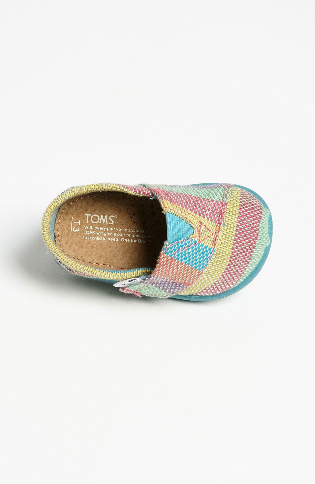 Alternate Image 3  - TOMS 'Classic - Tiny' Plaid Slip-On (Baby, Walker & Toddler)
