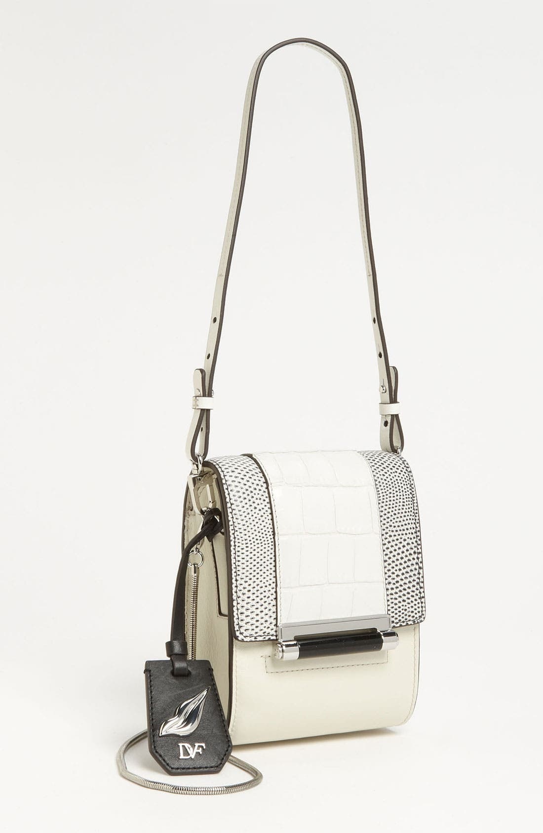 Alternate Image 1 Selected - Diane von Furstenberg 'Parker - Mini' Embossed Crossbody Bag