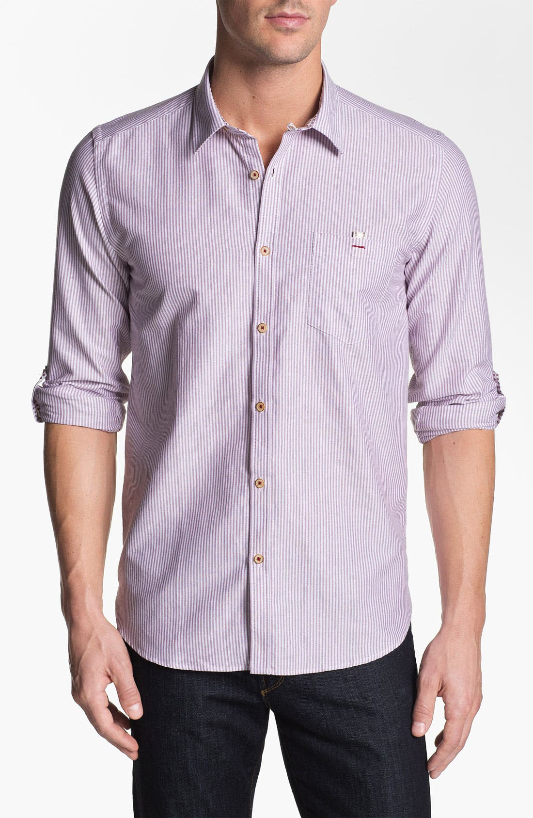 Alternate Image 1 Selected - Ted Baker London 'Oxno' Trim Fit Sport Shirt