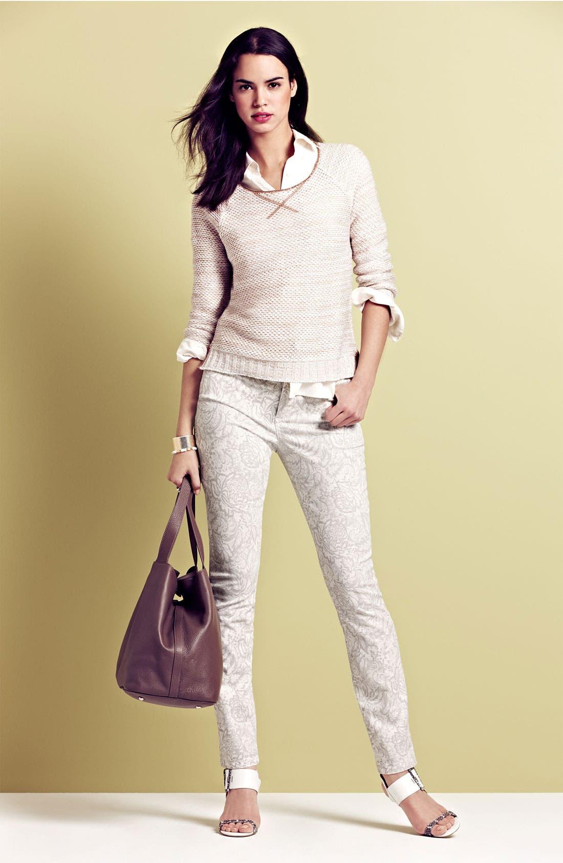 Alternate Image 4  - NYDJ 'Alisha' Print Skinny Stretch Ankle Jeans