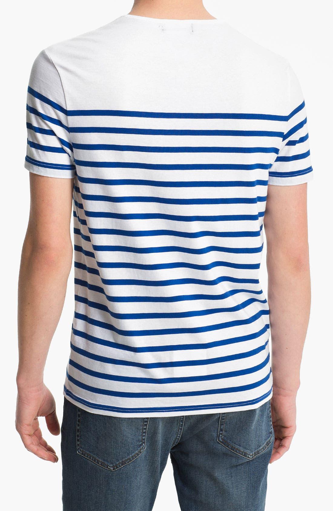 Alternate Image 2  - Topman 'Surf the Web' Stripe T-Shirt