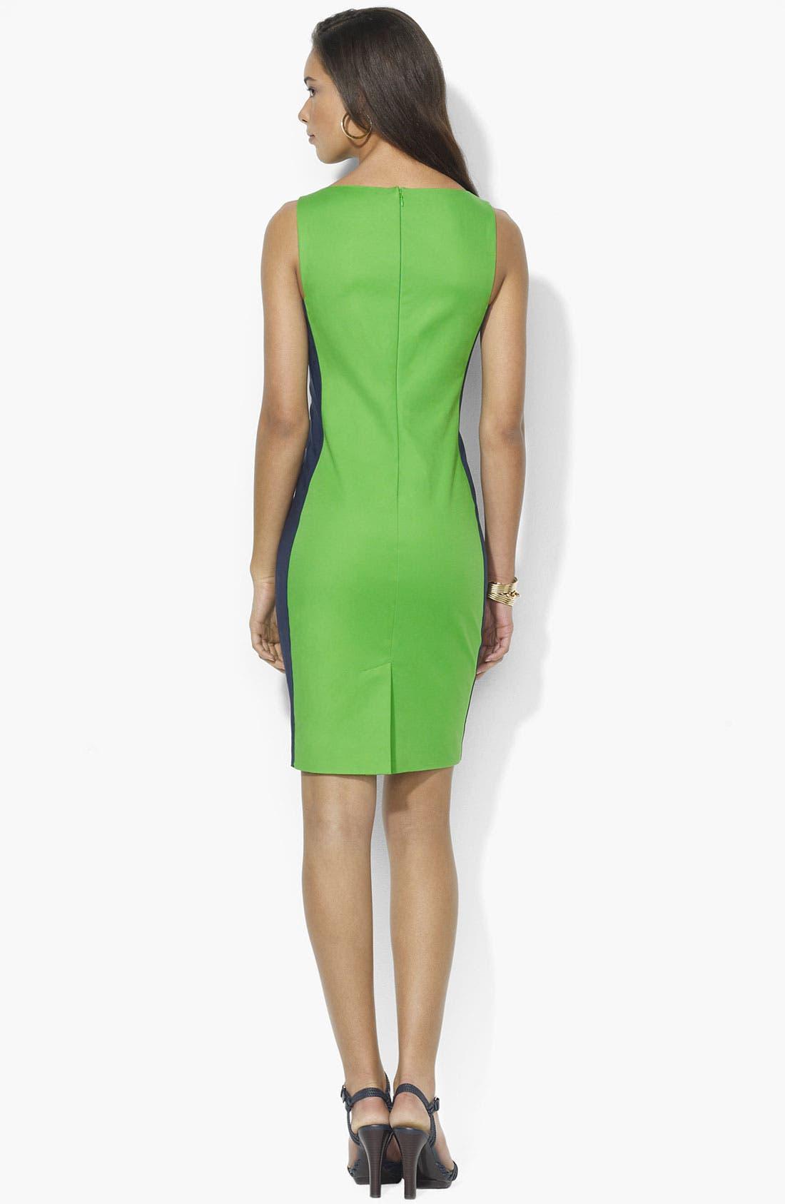 Alternate Image 2  - Lauren Ralph Lauren Bateau Neck Sheath Dress