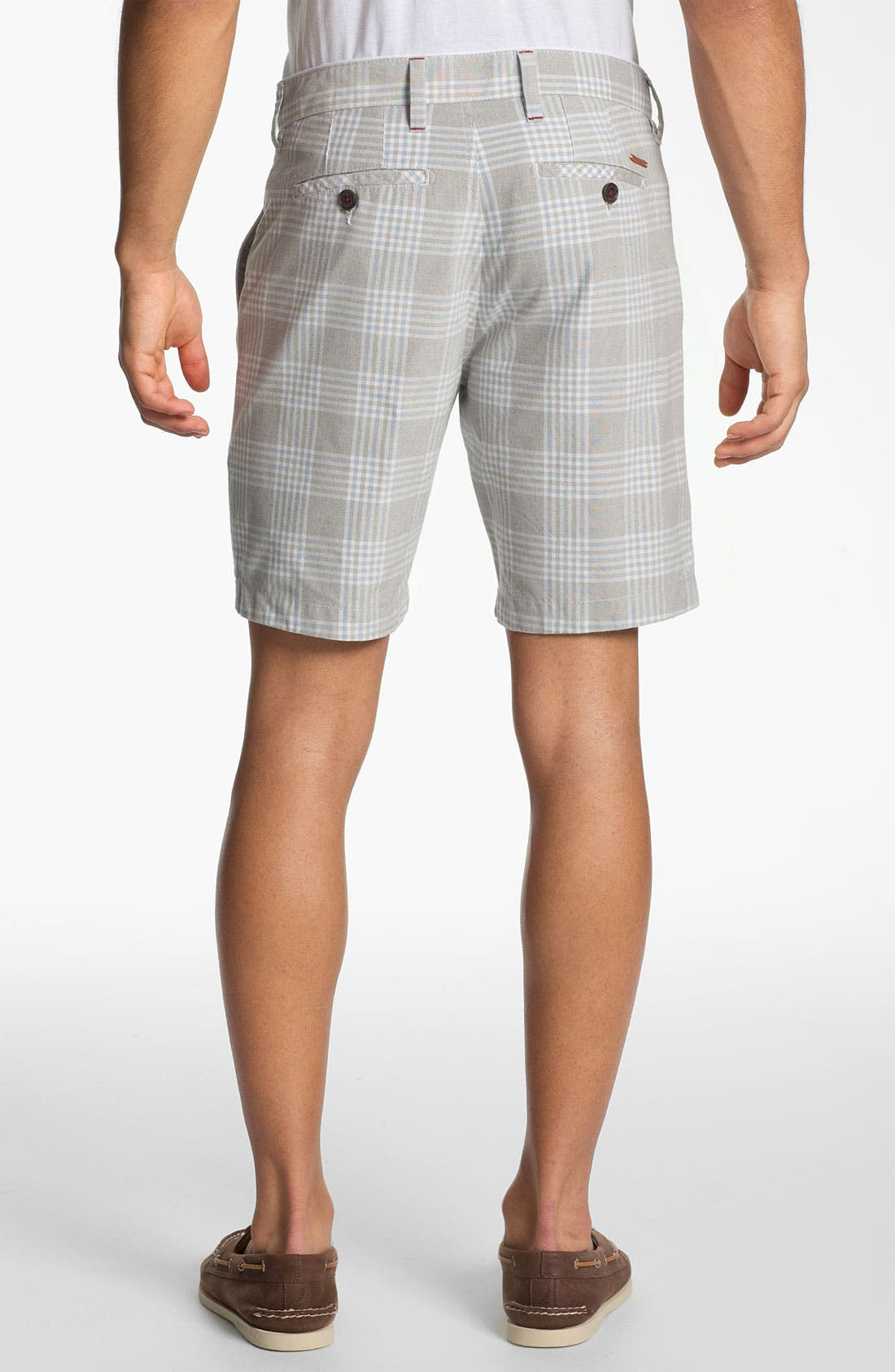 'Yaxley Check' Shorts,                             Alternate thumbnail 2, color,                             Blue