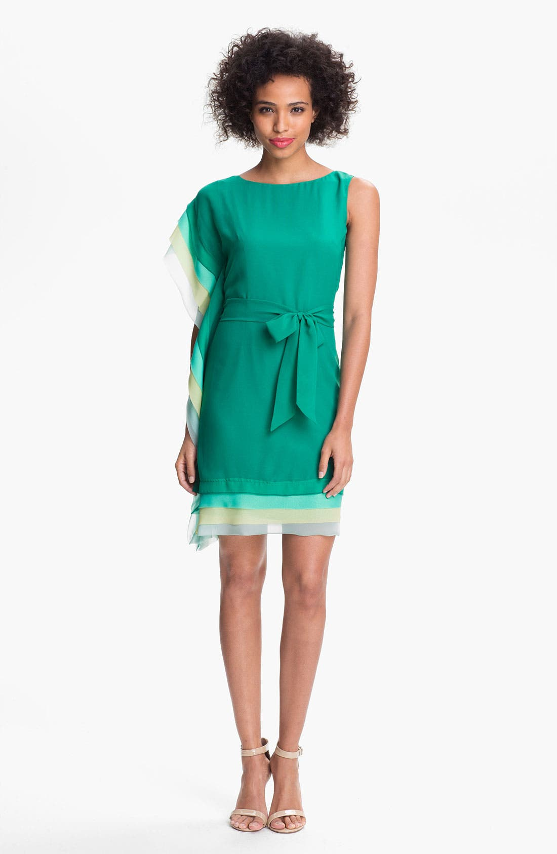 Main Image - Vince Camuto Asymmetrical Tiered Sheath Dress